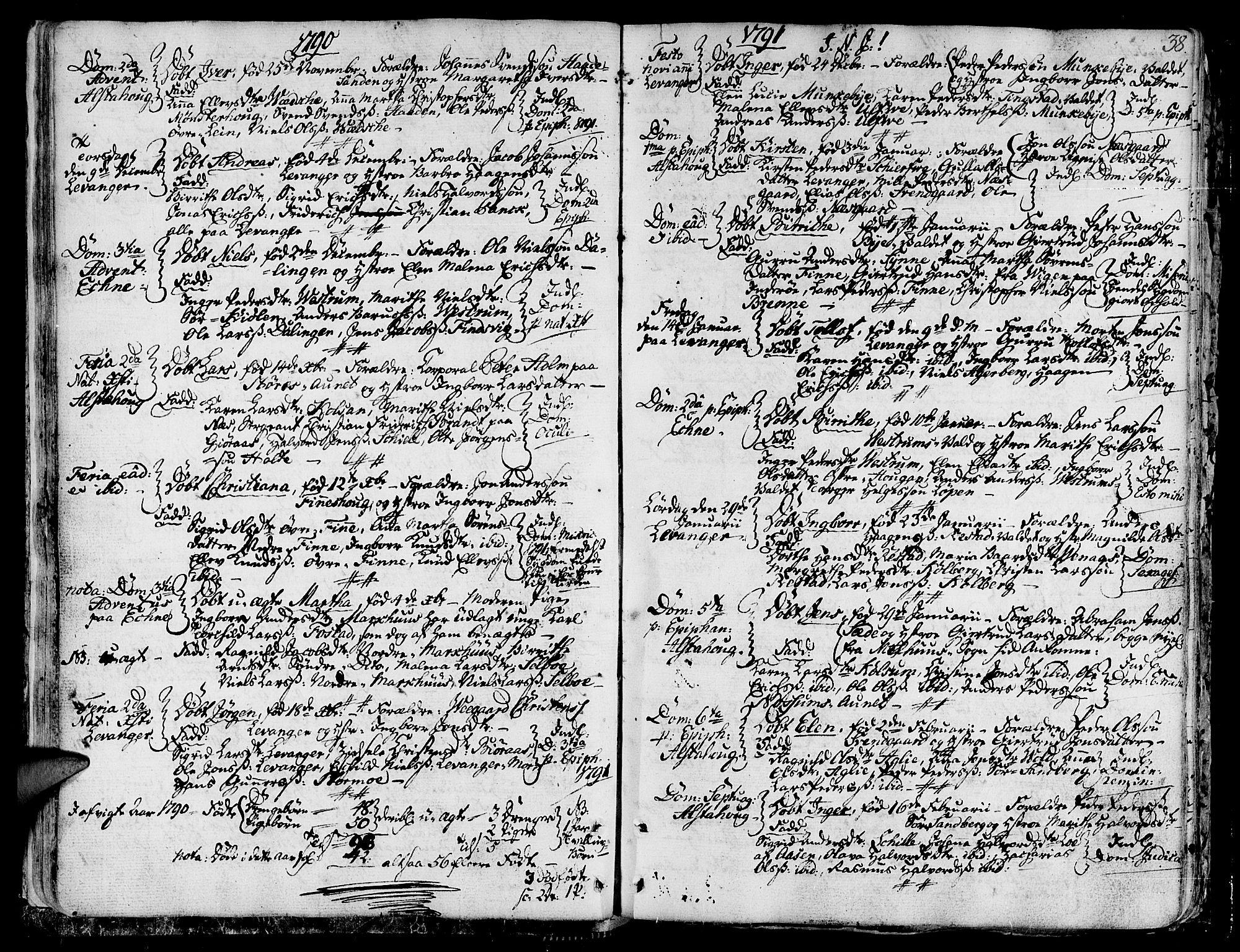 SAT, Ministerialprotokoller, klokkerbøker og fødselsregistre - Nord-Trøndelag, 717/L0142: Ministerialbok nr. 717A02 /1, 1783-1809, s. 38
