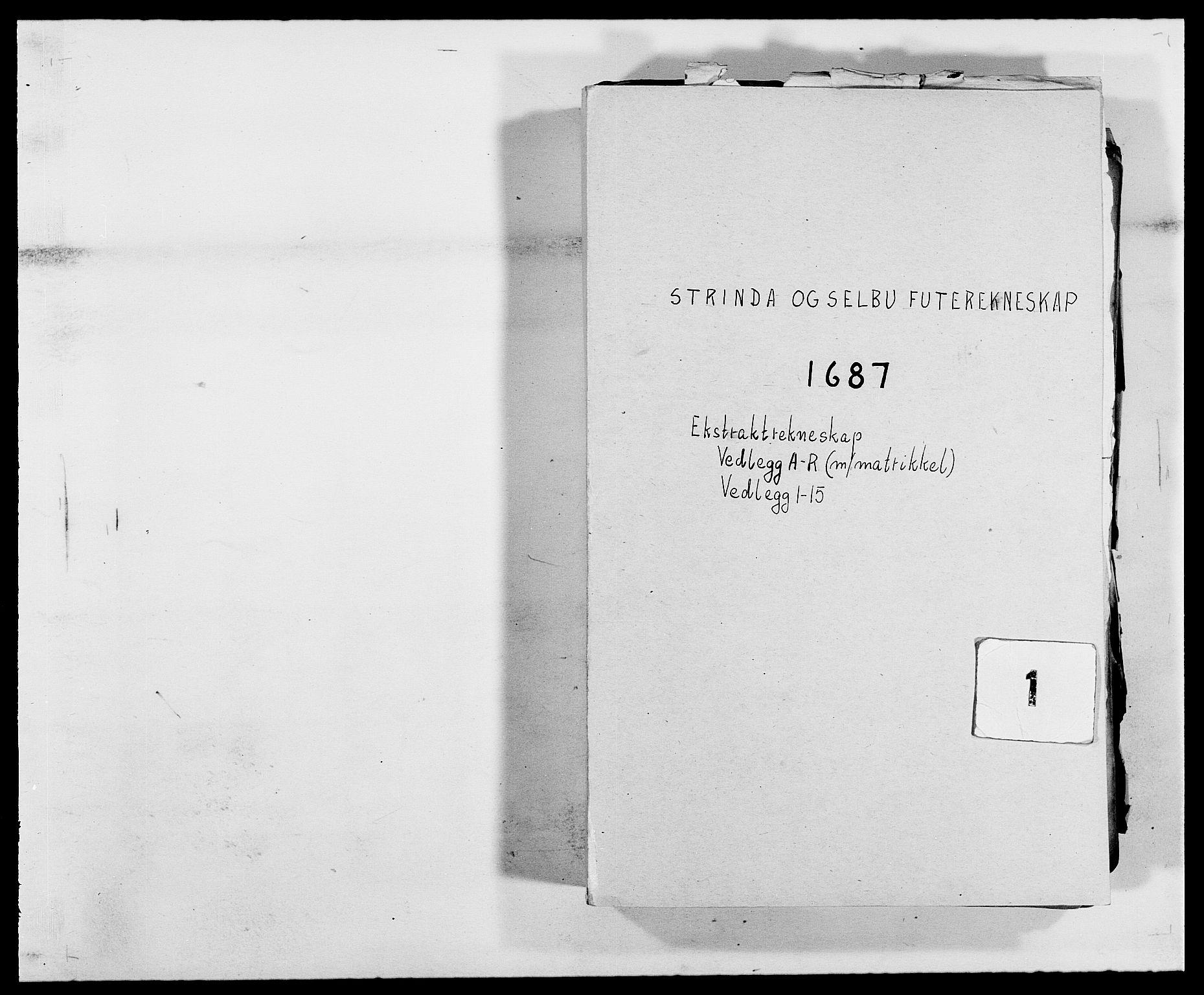 RA, Rentekammeret inntil 1814, Reviderte regnskaper, Fogderegnskap, R61/L4101: Fogderegnskap Strinda og Selbu, 1687-1688, s. 1