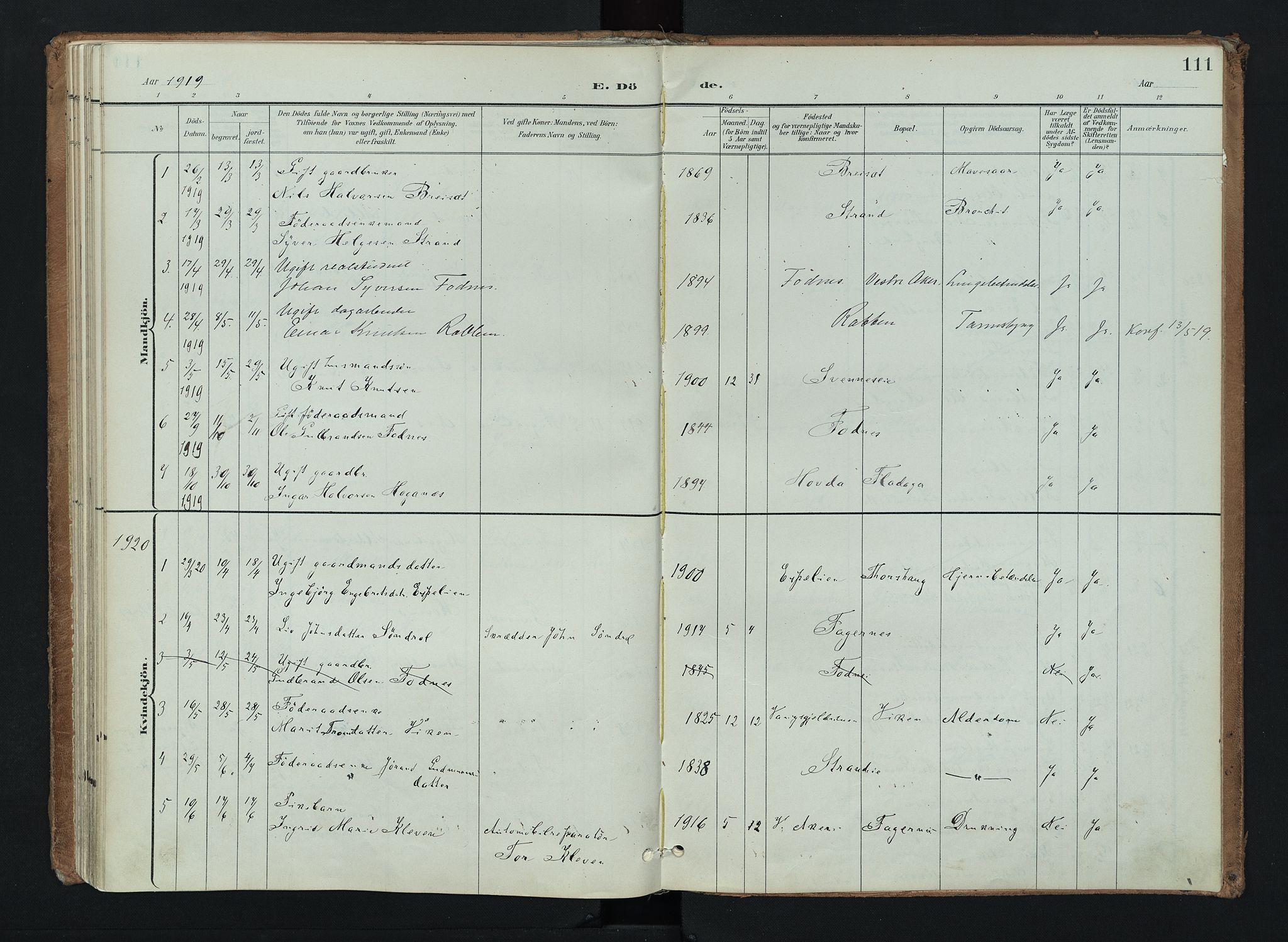 SAH, Nord-Aurdal prestekontor, Ministerialbok nr. 16, 1897-1925, s. 111