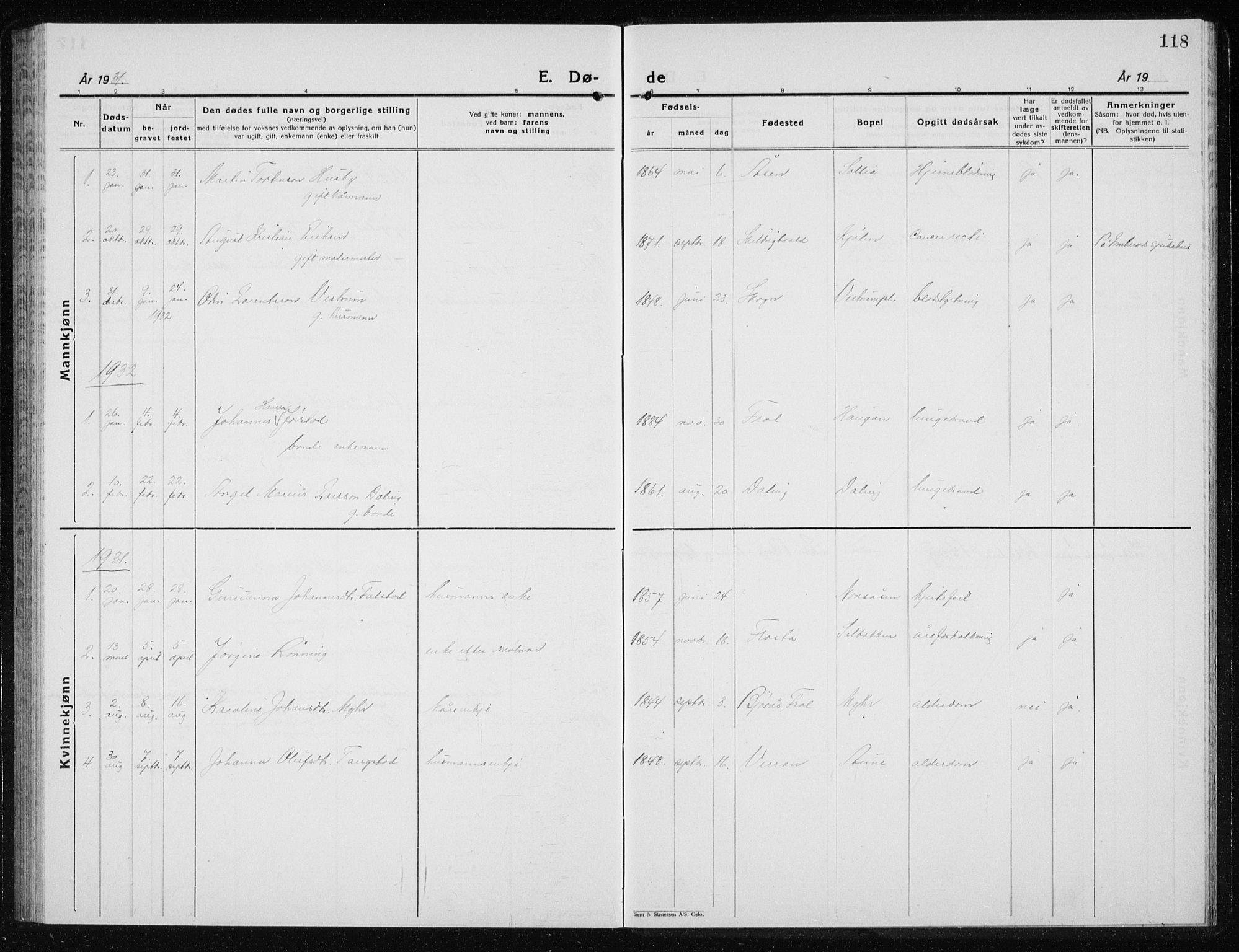 SAT, Ministerialprotokoller, klokkerbøker og fødselsregistre - Nord-Trøndelag, 719/L0180: Klokkerbok nr. 719C01, 1878-1940, s. 118