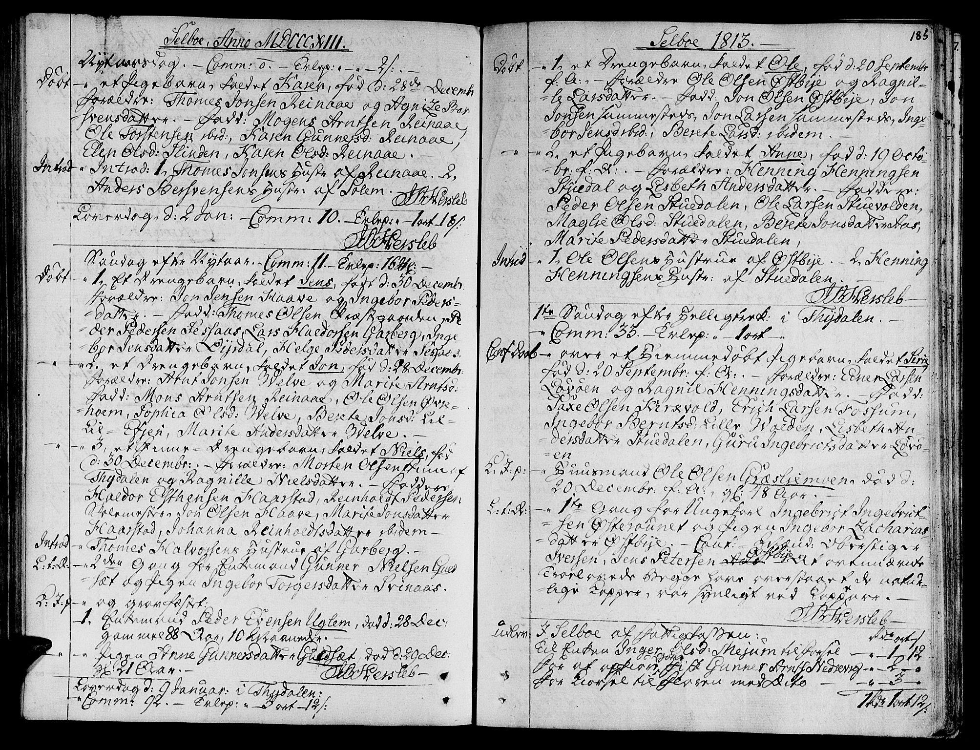 SAT, Ministerialprotokoller, klokkerbøker og fødselsregistre - Sør-Trøndelag, 695/L1140: Ministerialbok nr. 695A03, 1801-1815, s. 185