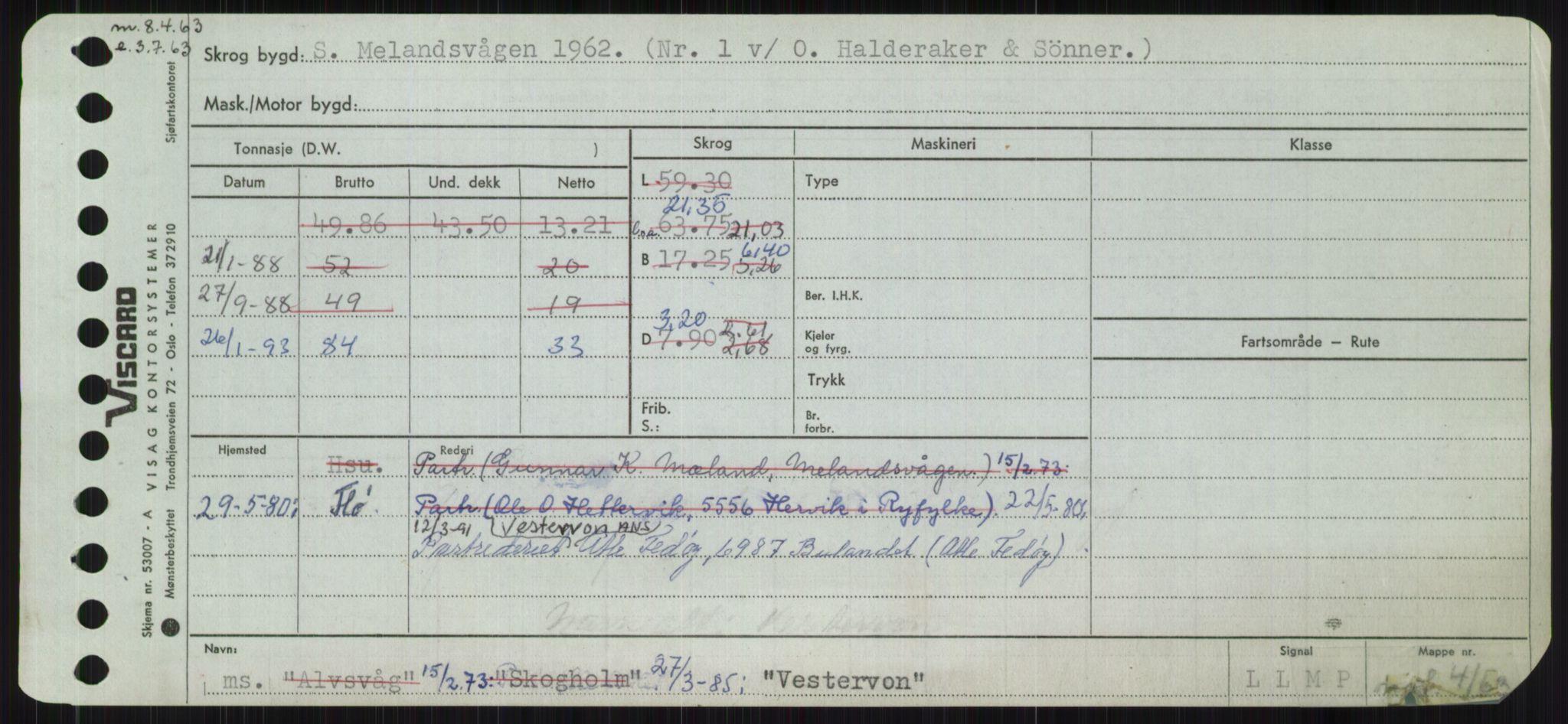 RA, Sjøfartsdirektoratet med forløpere, Skipsmålingen, H/Ha/L0006: Fartøy, Sver-Å, s. 309
