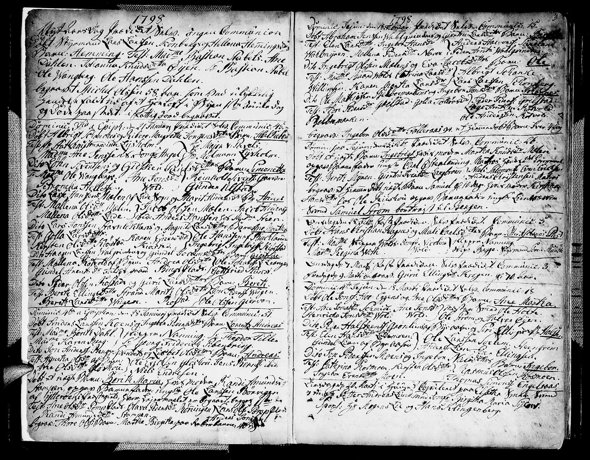 SAT, Ministerialprotokoller, klokkerbøker og fødselsregistre - Sør-Trøndelag, 604/L0181: Ministerialbok nr. 604A02, 1798-1817, s. 2-3
