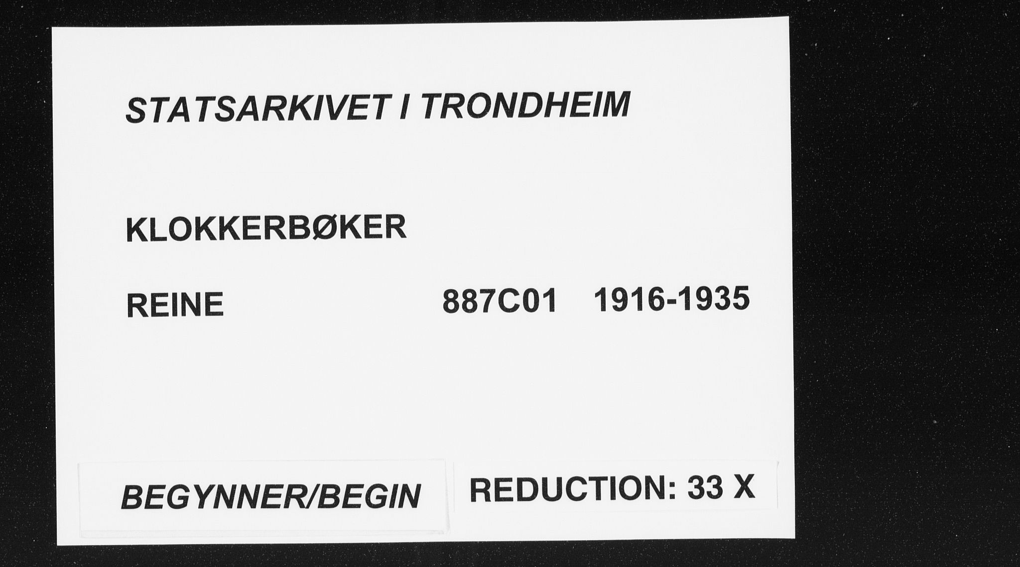 SAT, Ministerialprotokoller, klokkerbøker og fødselsregistre - Nordland, 887/L1229: Klokkerbok nr. 887C01, 1916-1935