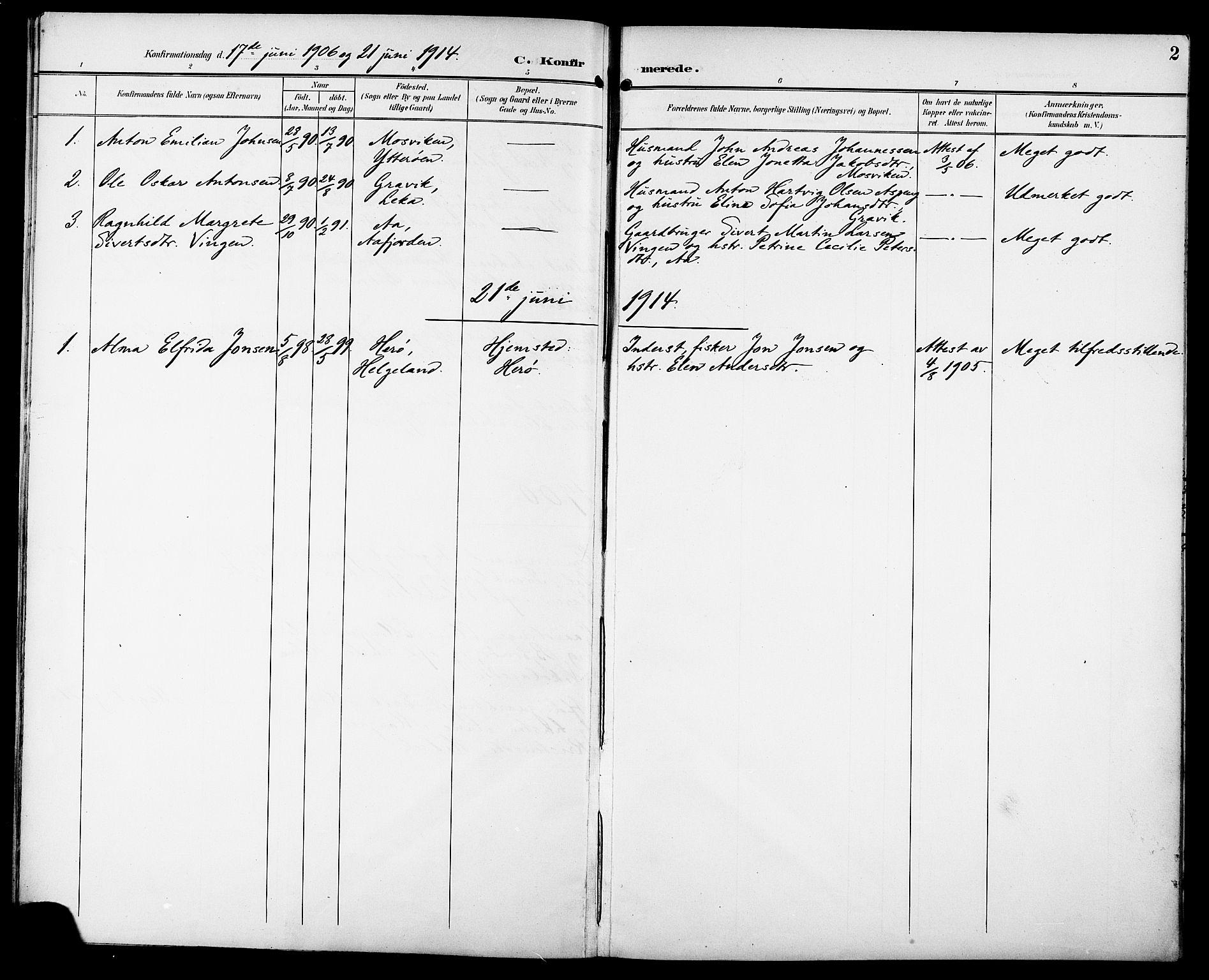 SAT, Ministerialprotokoller, klokkerbøker og fødselsregistre - Sør-Trøndelag, 629/L0486: Ministerialbok nr. 629A02, 1894-1919, s. 2