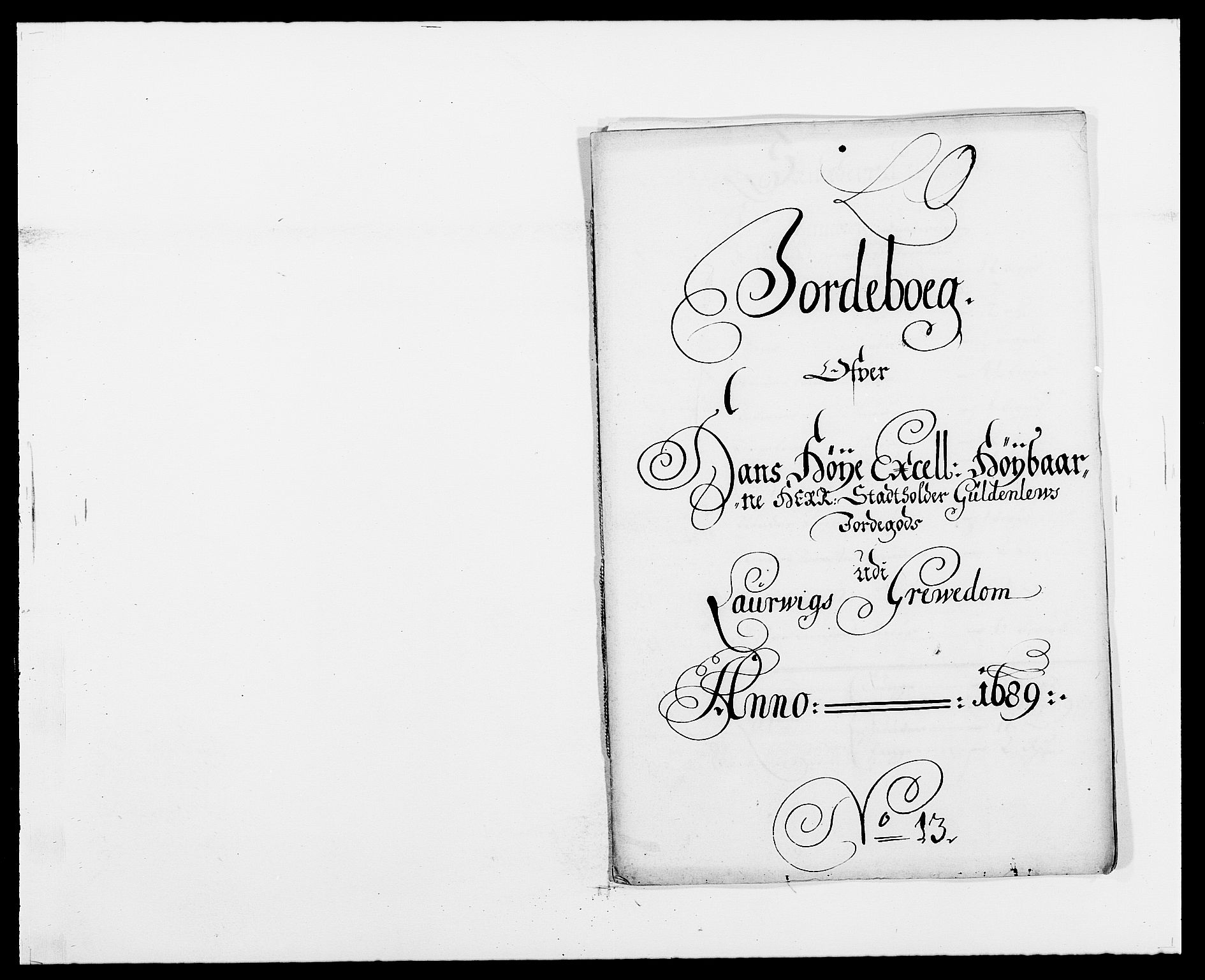 RA, Rentekammeret inntil 1814, Reviderte regnskaper, Fogderegnskap, R33/L1971: Fogderegnskap Larvik grevskap, 1688-1689, s. 279