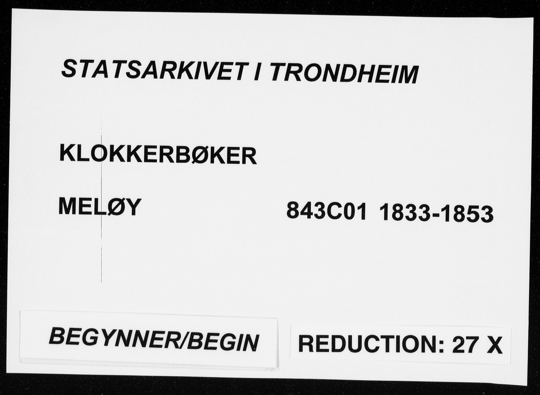 SAT, Ministerialprotokoller, klokkerbøker og fødselsregistre - Nordland, 843/L0632: Klokkerbok nr. 843C01, 1833-1853