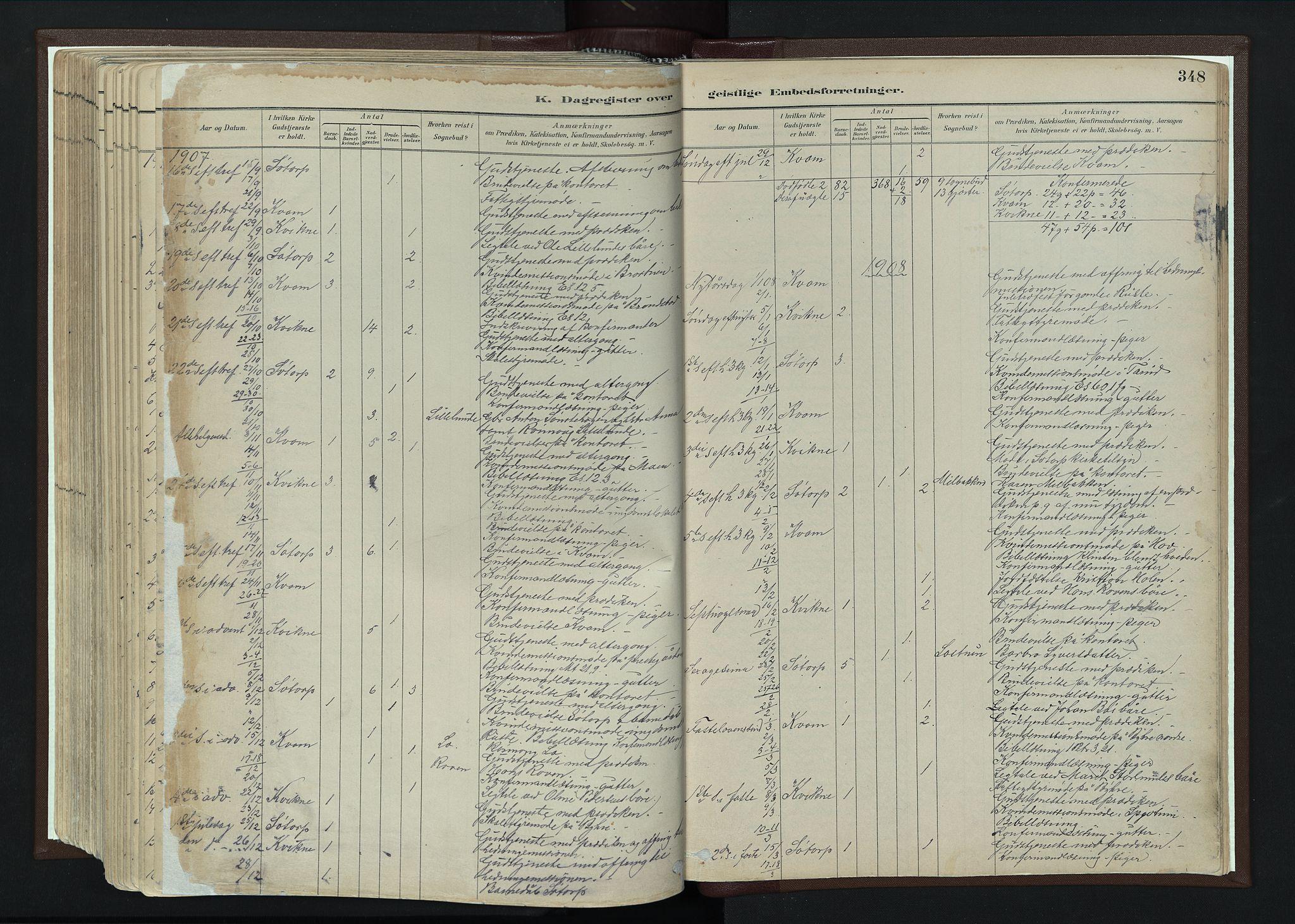 SAH, Nord-Fron prestekontor, Ministerialbok nr. 4, 1884-1914, s. 348