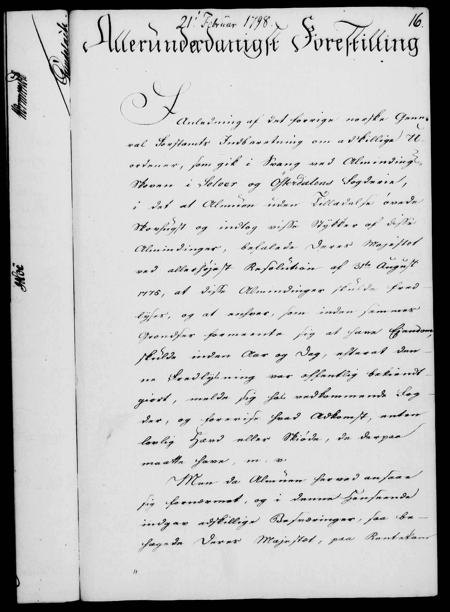 RA, Rentekammeret, Kammerkanselliet, G/Gf/Gfa/L0080: Norsk relasjons- og resolusjonsprotokoll (merket RK 52.80), 1798, s. 95