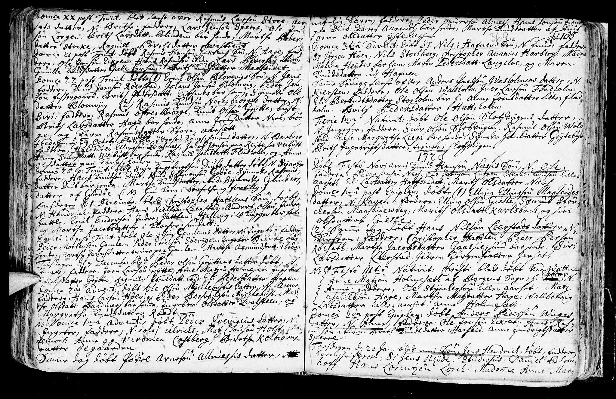 SAT, Ministerialprotokoller, klokkerbøker og fødselsregistre - Møre og Romsdal, 528/L0390: Ministerialbok nr. 528A01, 1698-1739, s. 368-369