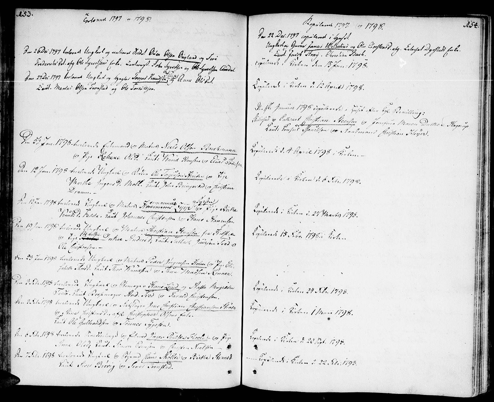 SAK, Kristiansand domprosti, F/Fa/L0005: Ministerialbok nr. A 5, 1776-1818, s. 153-154