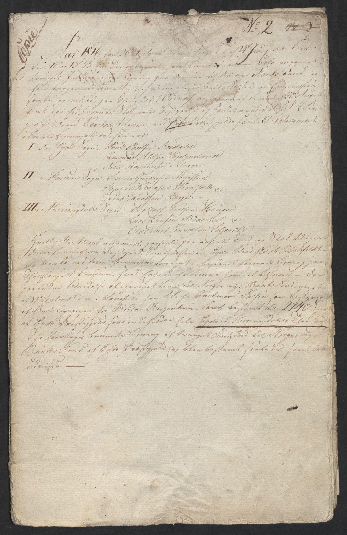 NOBA, Norges Bank/Sølvskatten 1816*, 1816-1828, s. 19