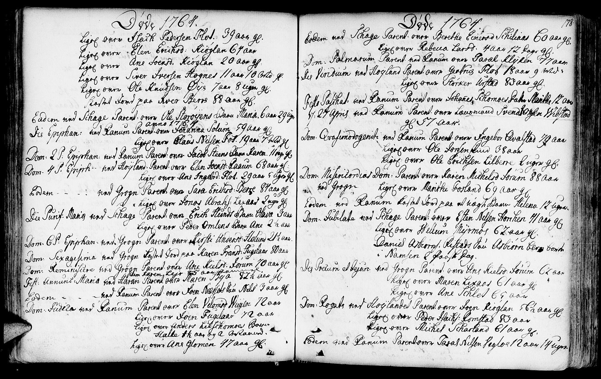 SAT, Ministerialprotokoller, klokkerbøker og fødselsregistre - Nord-Trøndelag, 764/L0542: Ministerialbok nr. 764A02, 1748-1779, s. 178