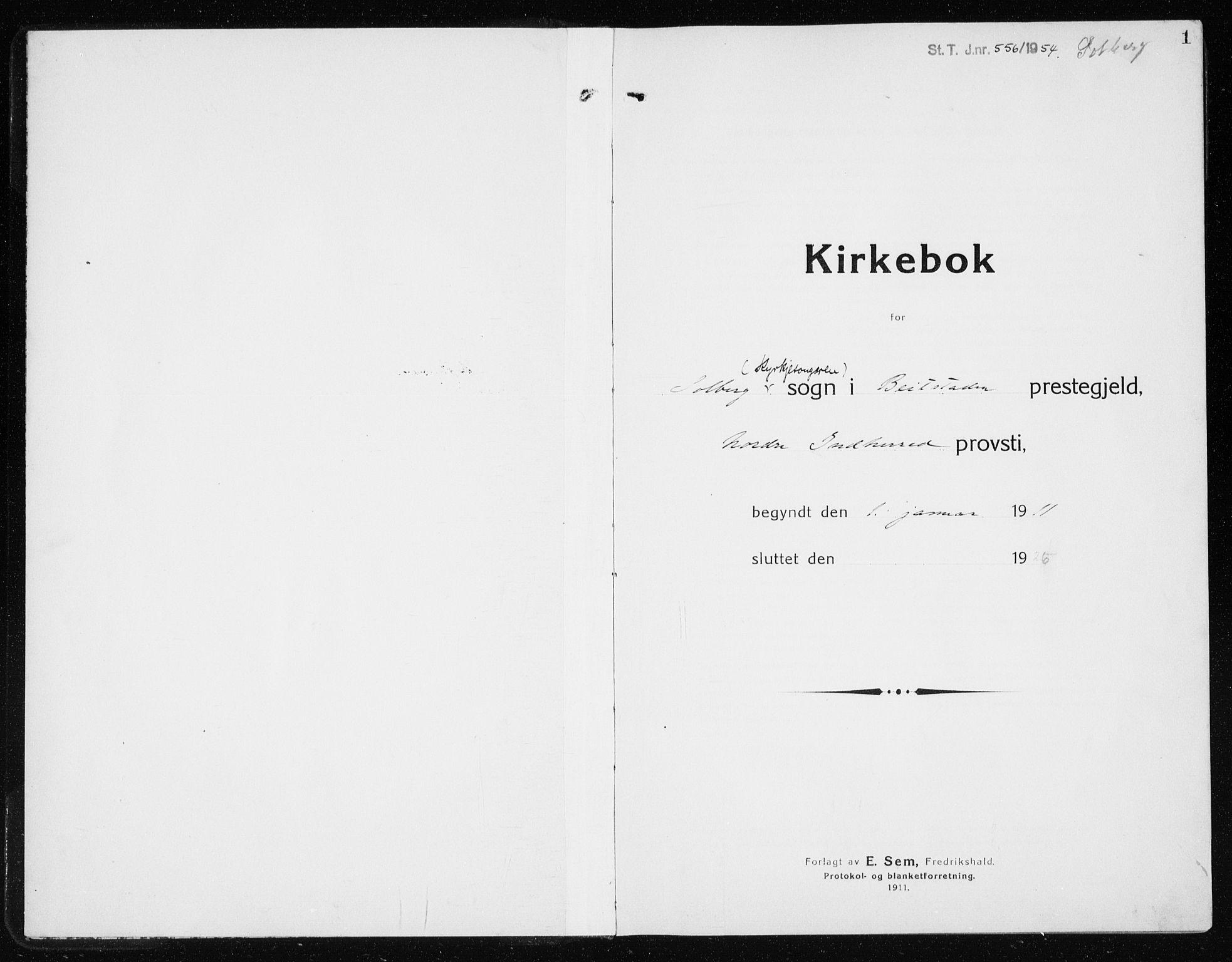 SAT, Ministerialprotokoller, klokkerbøker og fødselsregistre - Nord-Trøndelag, 741/L0402: Klokkerbok nr. 741C03, 1911-1926, s. 1