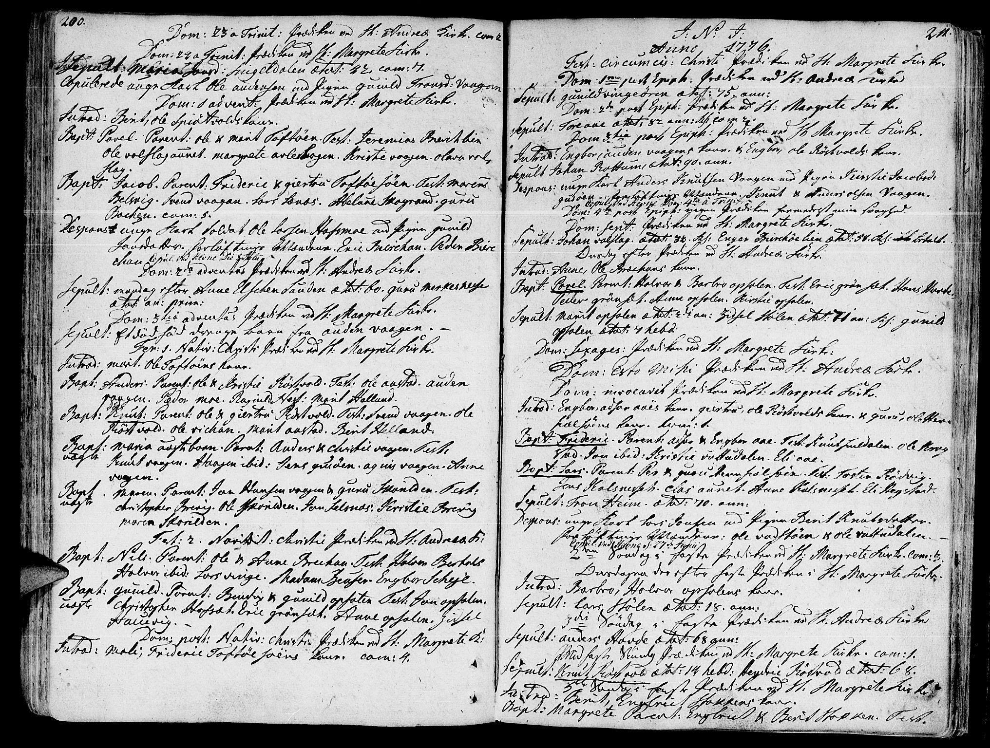 SAT, Ministerialprotokoller, klokkerbøker og fødselsregistre - Sør-Trøndelag, 630/L0489: Ministerialbok nr. 630A02, 1757-1794, s. 200-211