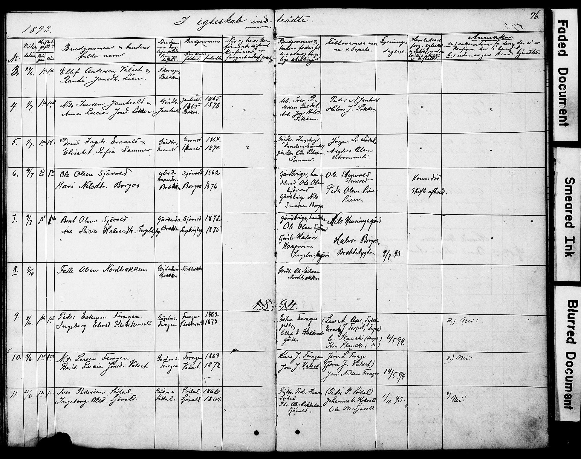 SAT, Ministerialprotokoller, klokkerbøker og fødselsregistre - Sør-Trøndelag, 683/L0949: Klokkerbok nr. 683C01, 1880-1896, s. 76