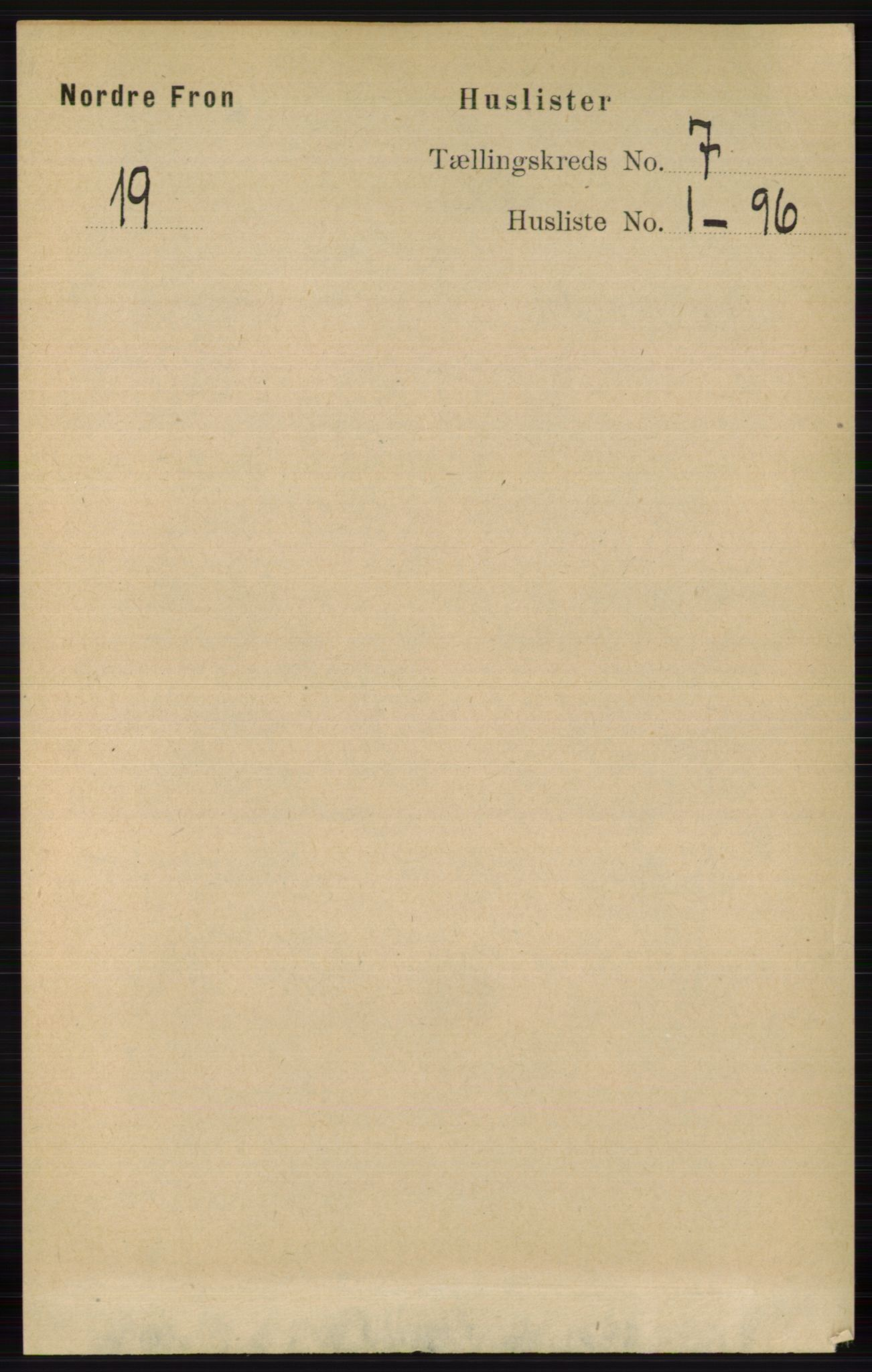 RA, Folketelling 1891 for 0518 Nord-Fron herred, 1891, s. 2733