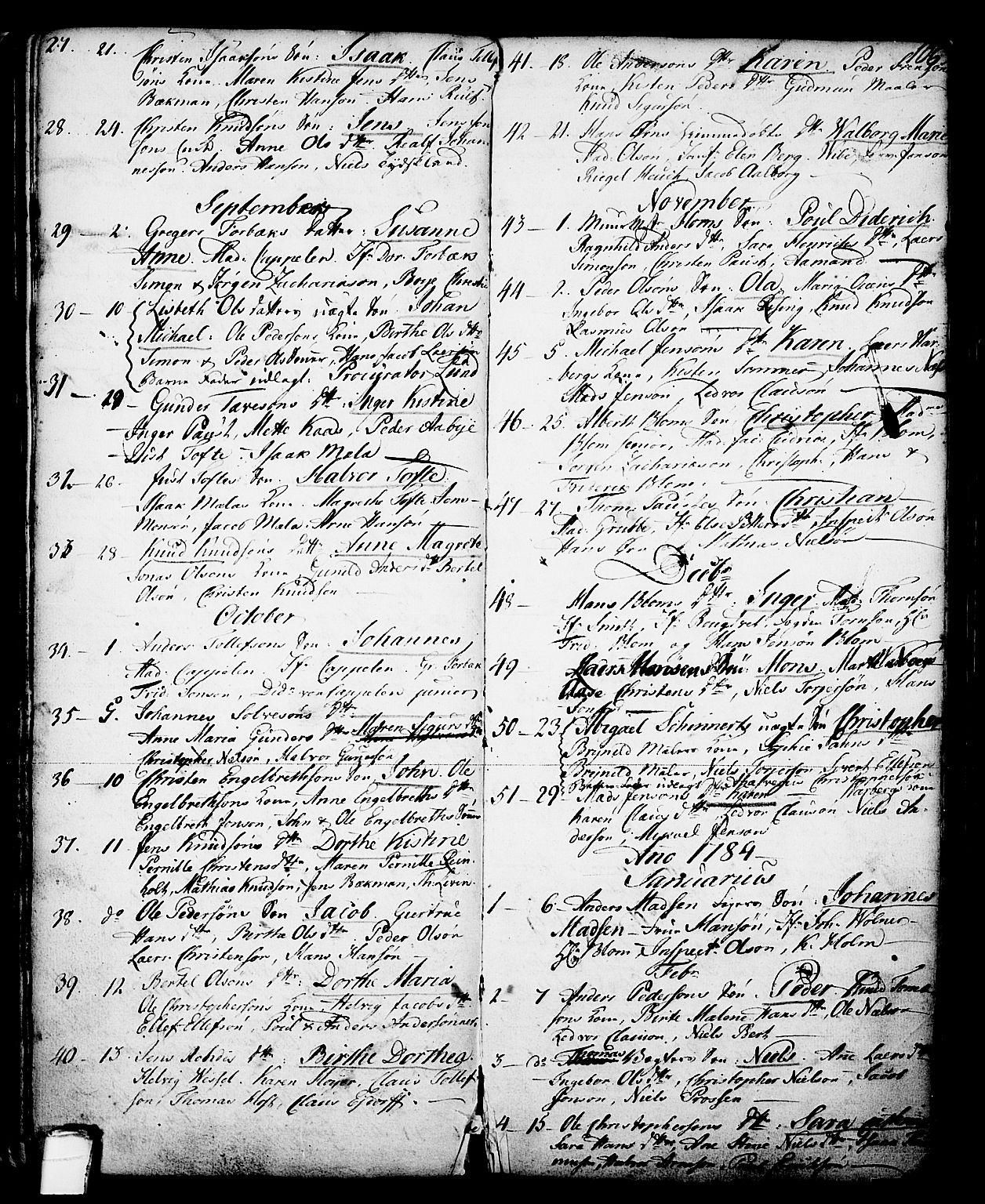 SAKO, Skien kirkebøker, G/Ga/L0001: Klokkerbok nr. 1, 1756-1791, s. 106