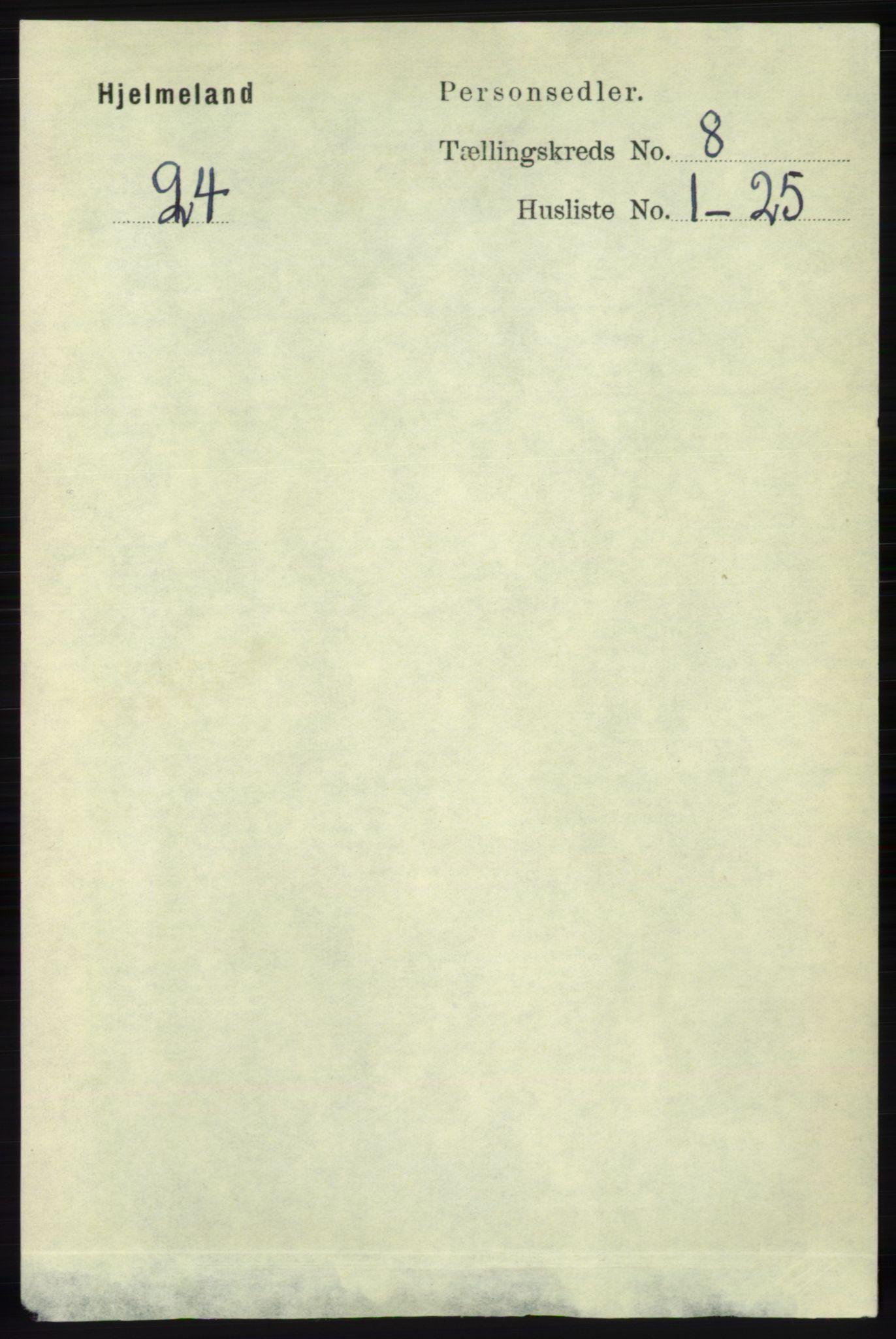 RA, Folketelling 1891 for 1133 Hjelmeland herred, 1891, s. 2472