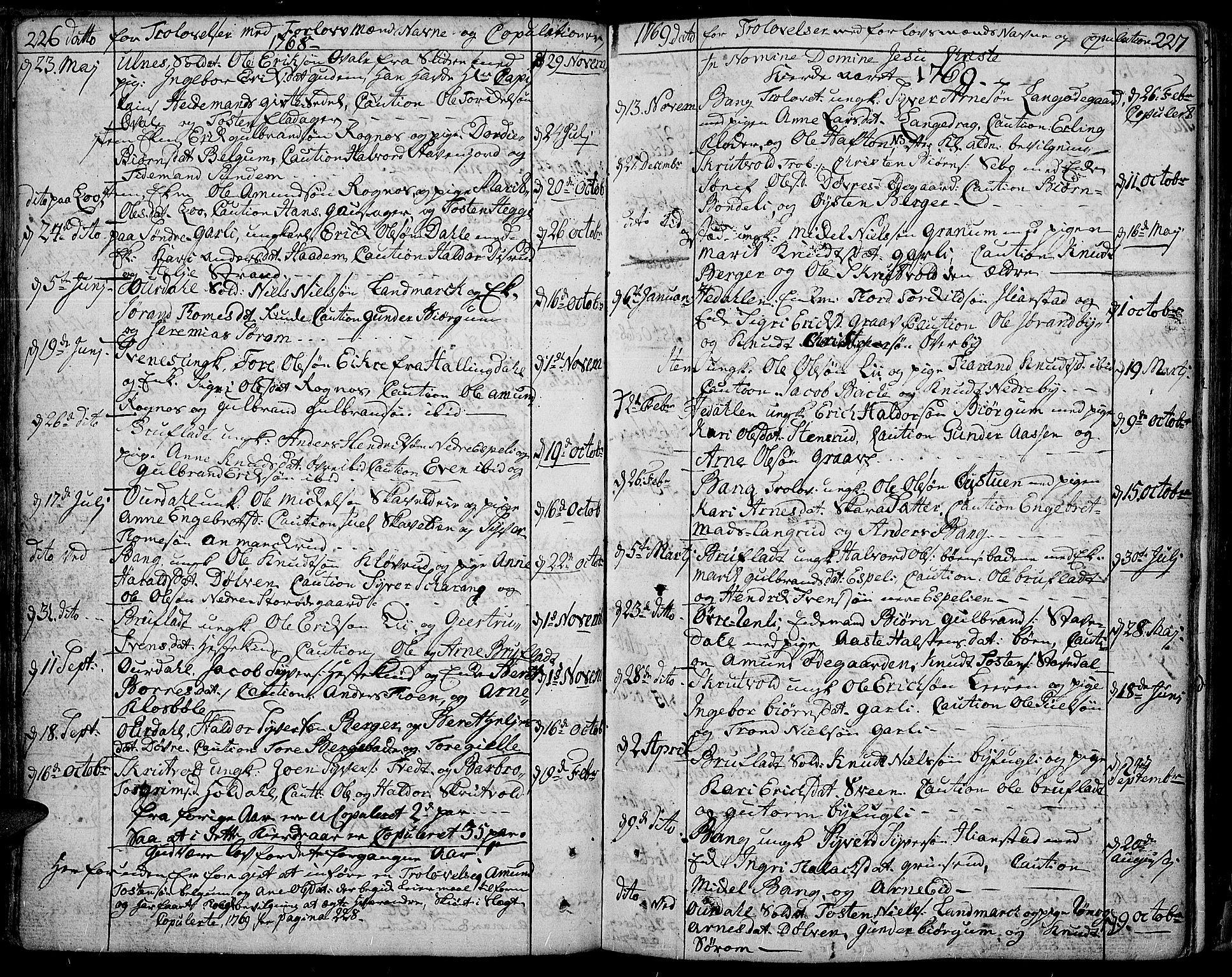 SAH, Aurdal prestekontor, Ministerialbok nr. 5, 1763-1781, s. 226-227