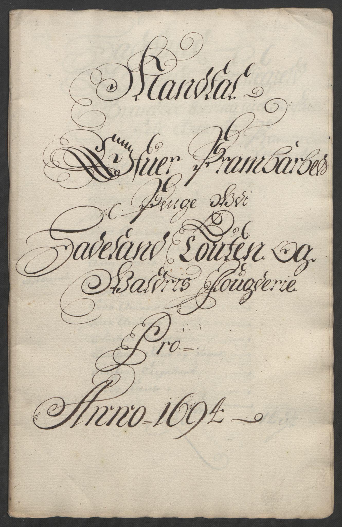 RA, Rentekammeret inntil 1814, Reviderte regnskaper, Fogderegnskap, R18/L1292: Fogderegnskap Hadeland, Toten og Valdres, 1693-1694, s. 360