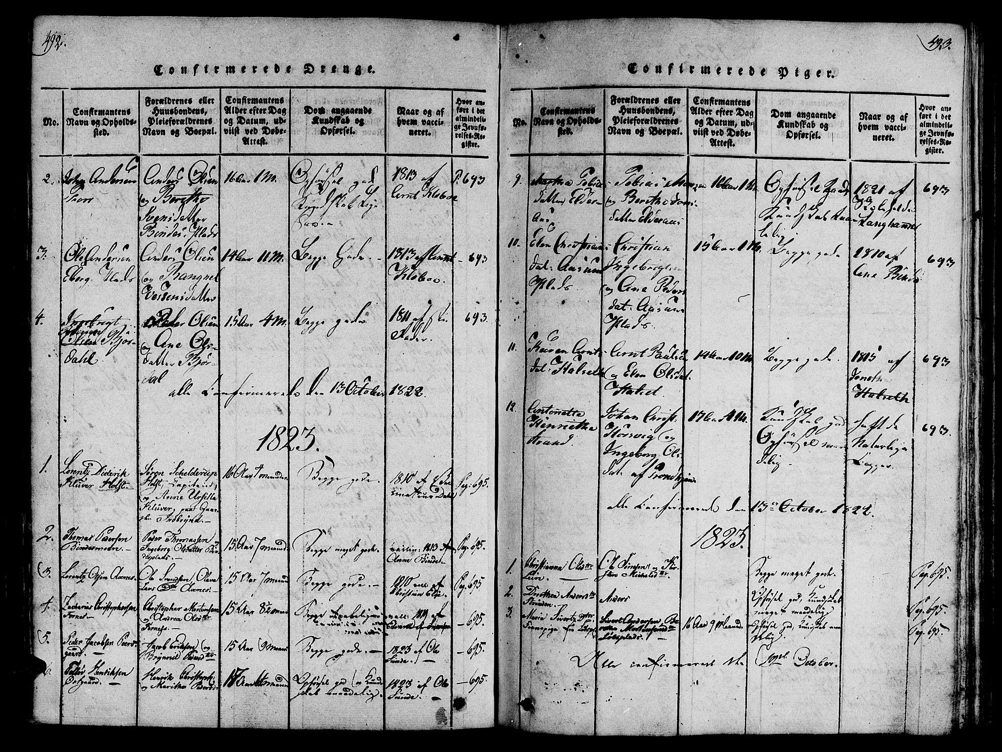 SAT, Ministerialprotokoller, klokkerbøker og fødselsregistre - Nord-Trøndelag, 746/L0441: Ministerialbok nr. 746A03 /1, 1816-1827, s. 492-493