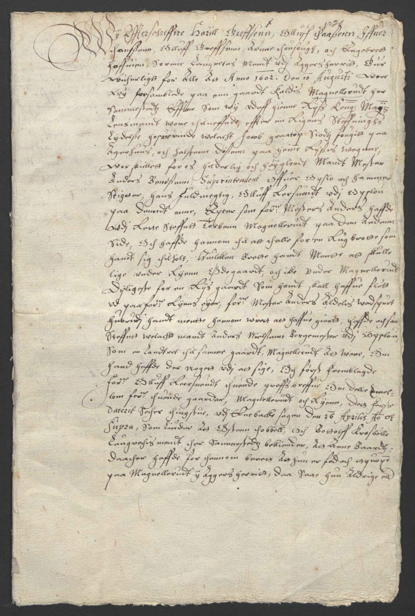 SAO, Oslo stiftsdireksjon, G/Gb/L0001: Bispestolens dokumenter, 1584-1612, s. 20