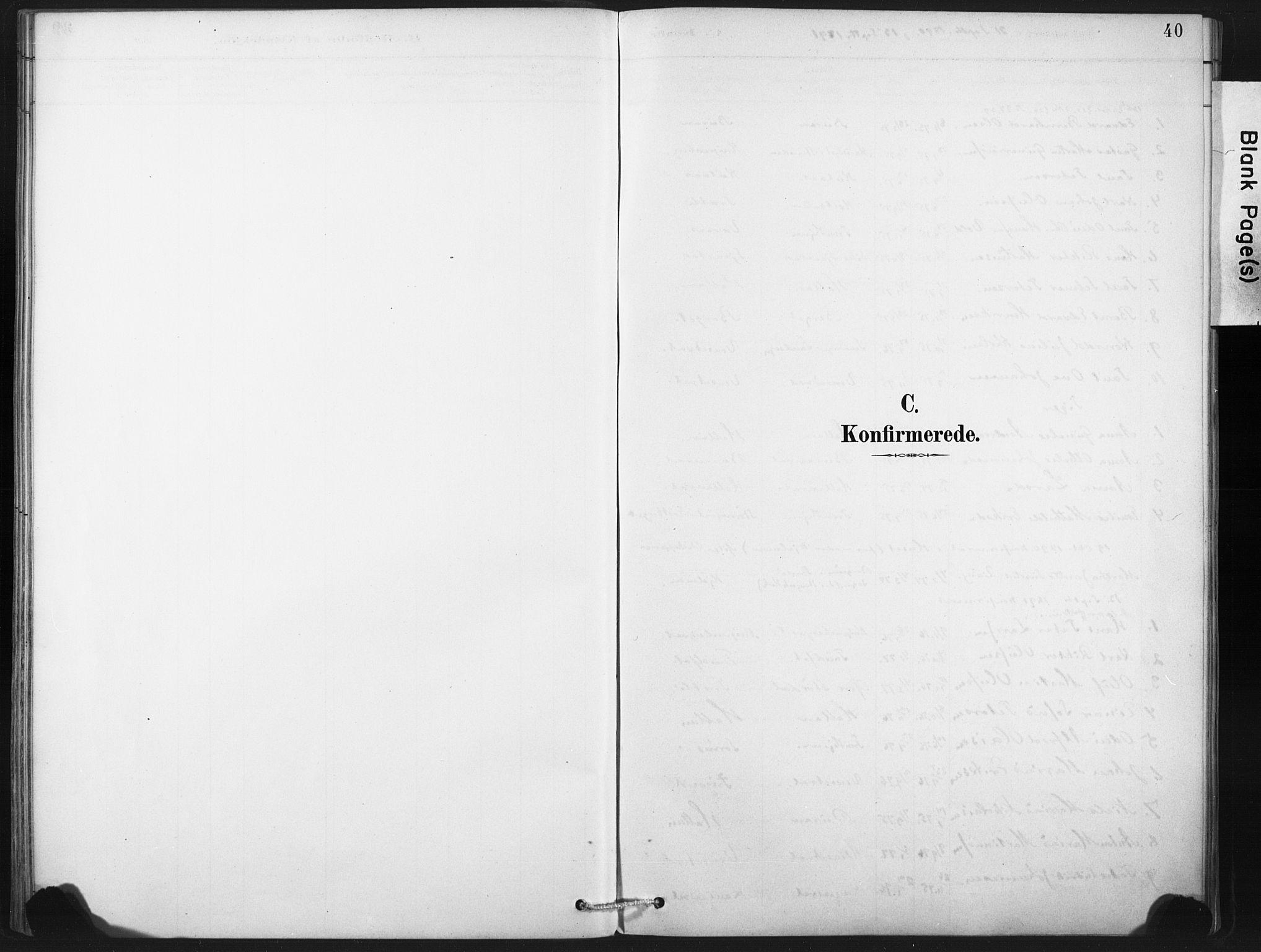 SAT, Ministerialprotokoller, klokkerbøker og fødselsregistre - Nord-Trøndelag, 718/L0175: Ministerialbok nr. 718A01, 1890-1923, s. 40