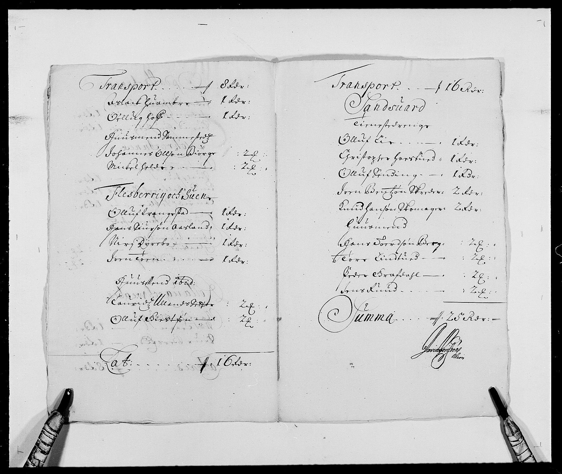 RA, Rentekammeret inntil 1814, Reviderte regnskaper, Fogderegnskap, R24/L1573: Fogderegnskap Numedal og Sandsvær, 1687-1691, s. 402