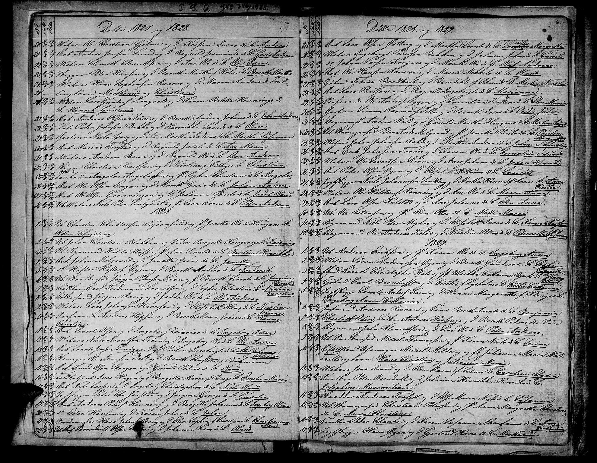 SAT, Ministerialprotokoller, klokkerbøker og fødselsregistre - Sør-Trøndelag, 604/L0182: Ministerialbok nr. 604A03, 1818-1850, s. 6