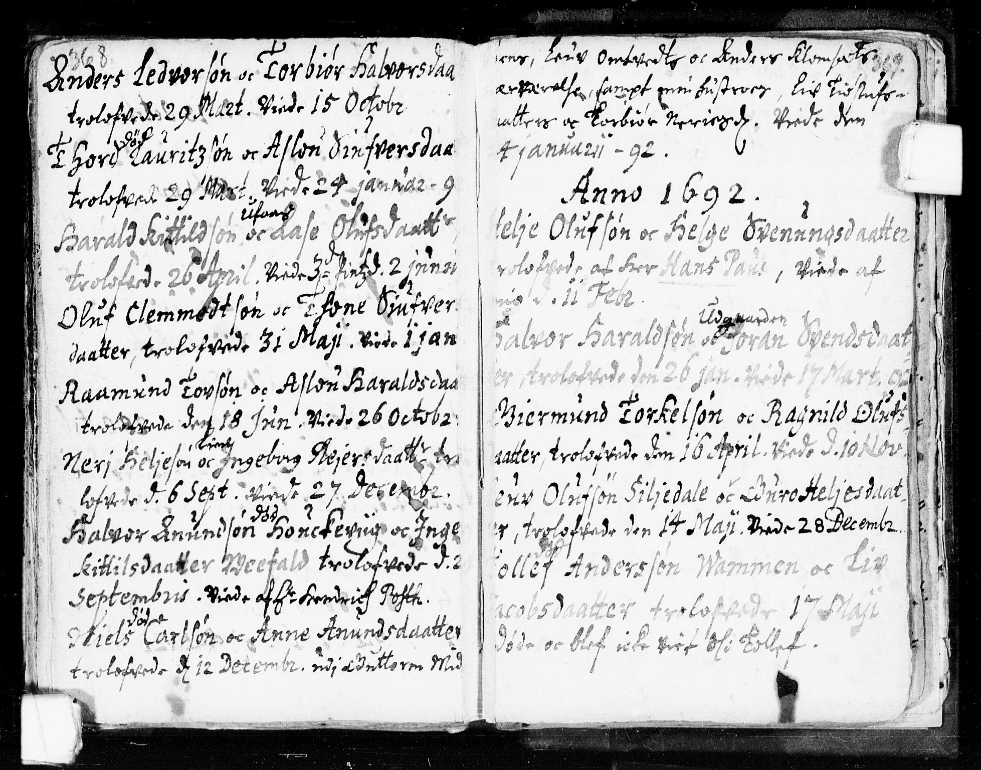 SAKO, Seljord kirkebøker, F/Fa/L0002: Ministerialbok nr. I 2, 1689-1713, s. 368-369