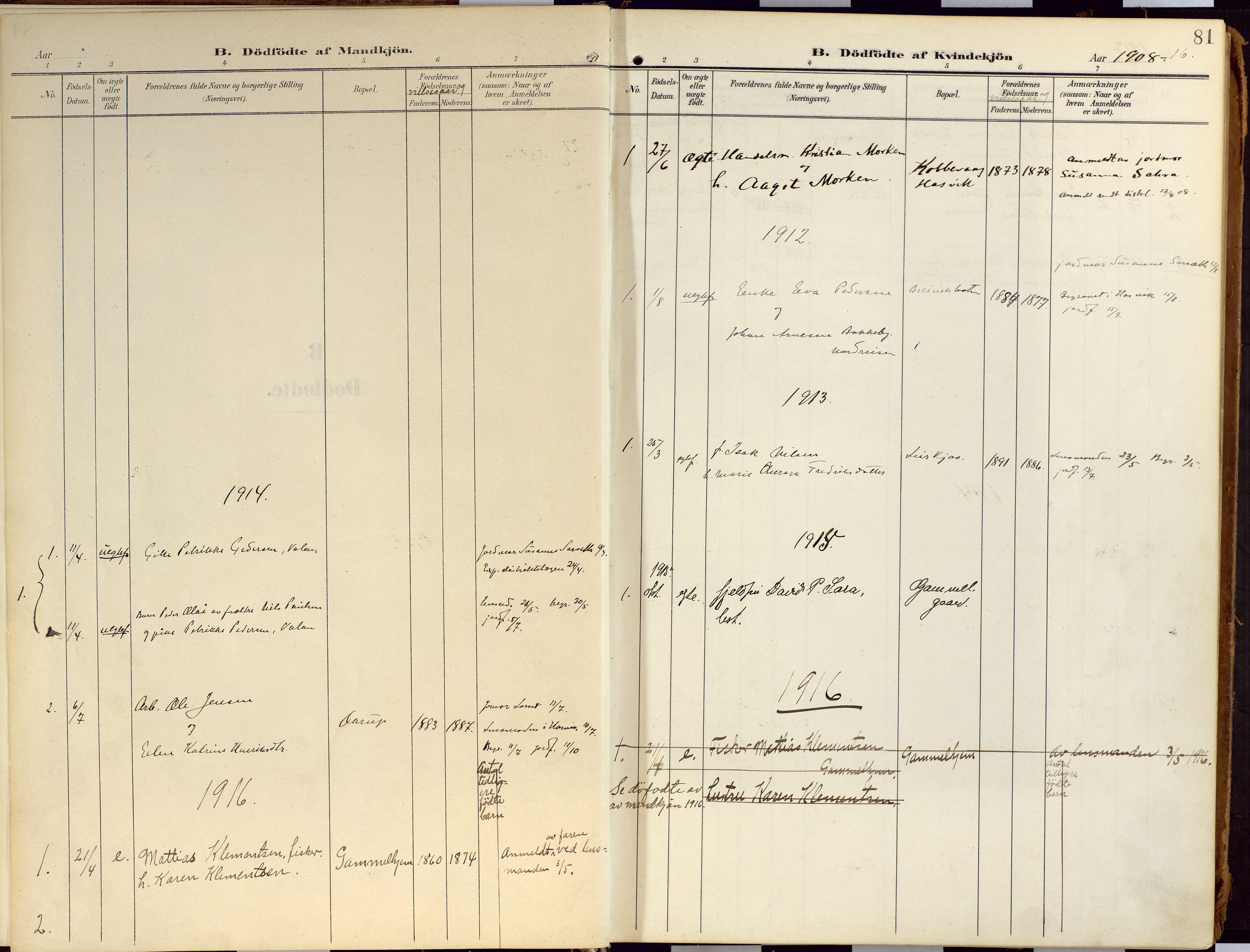 SATØ, Loppa sokneprestkontor, H/Ha/L0010kirke: Ministerialbok nr. 10, 1907-1922, s. 81
