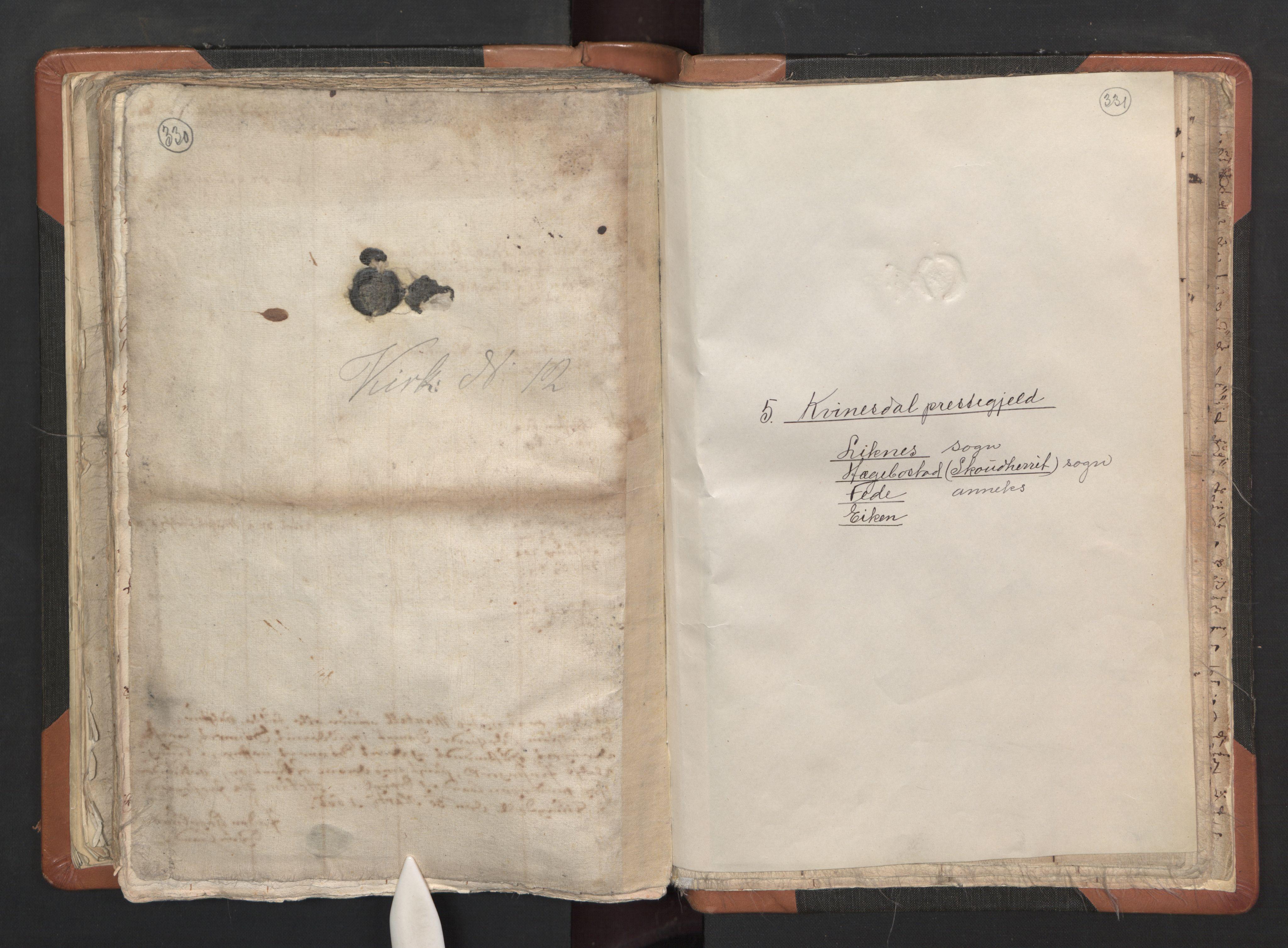 RA, Sogneprestenes manntall 1664-1666, nr. 16: Lista prosti, 1664-1666, s. 330-331