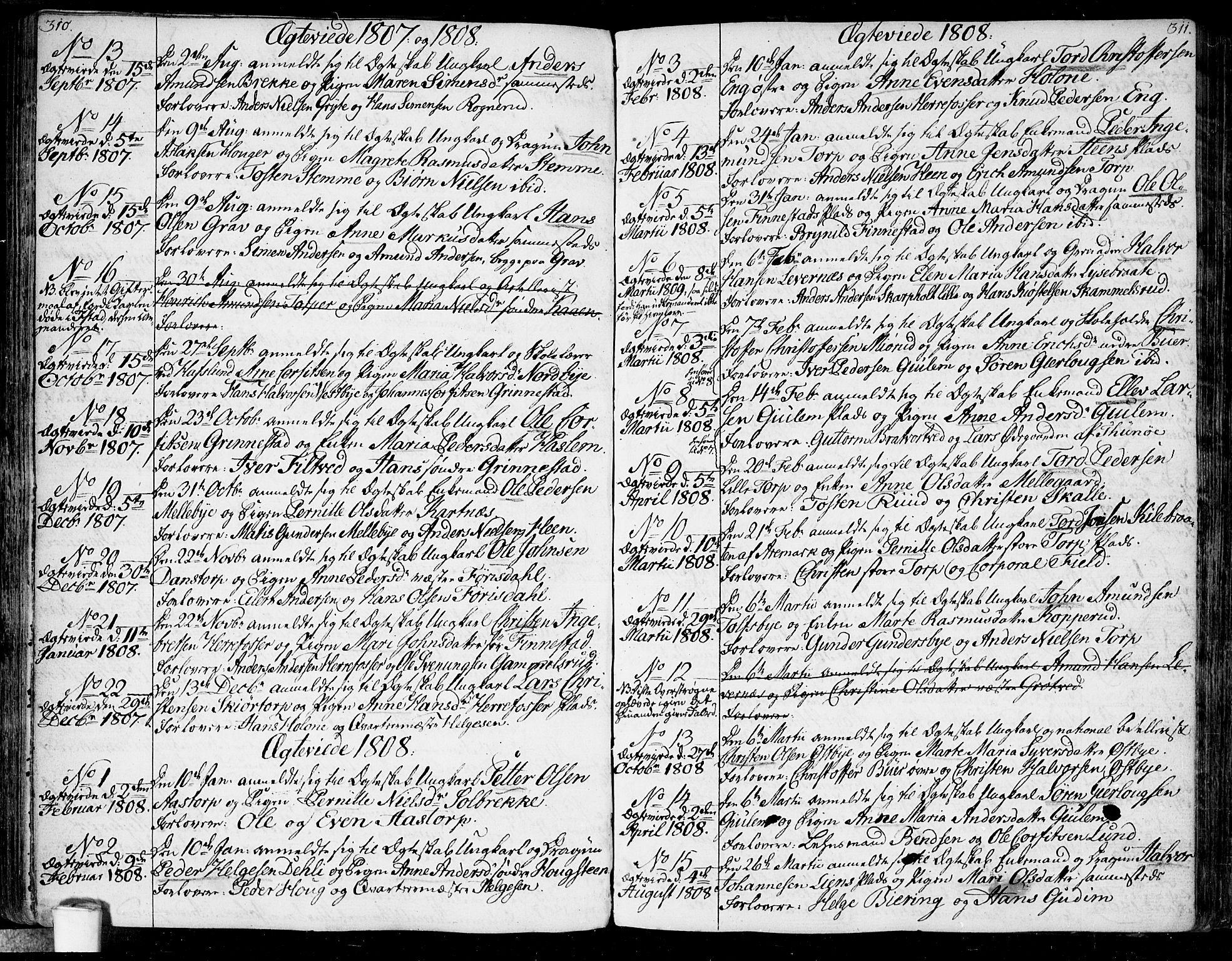 SAO, Rakkestad prestekontor Kirkebøker, F/Fa/L0005: Ministerialbok nr. I 5, 1784-1814, s. 310-311