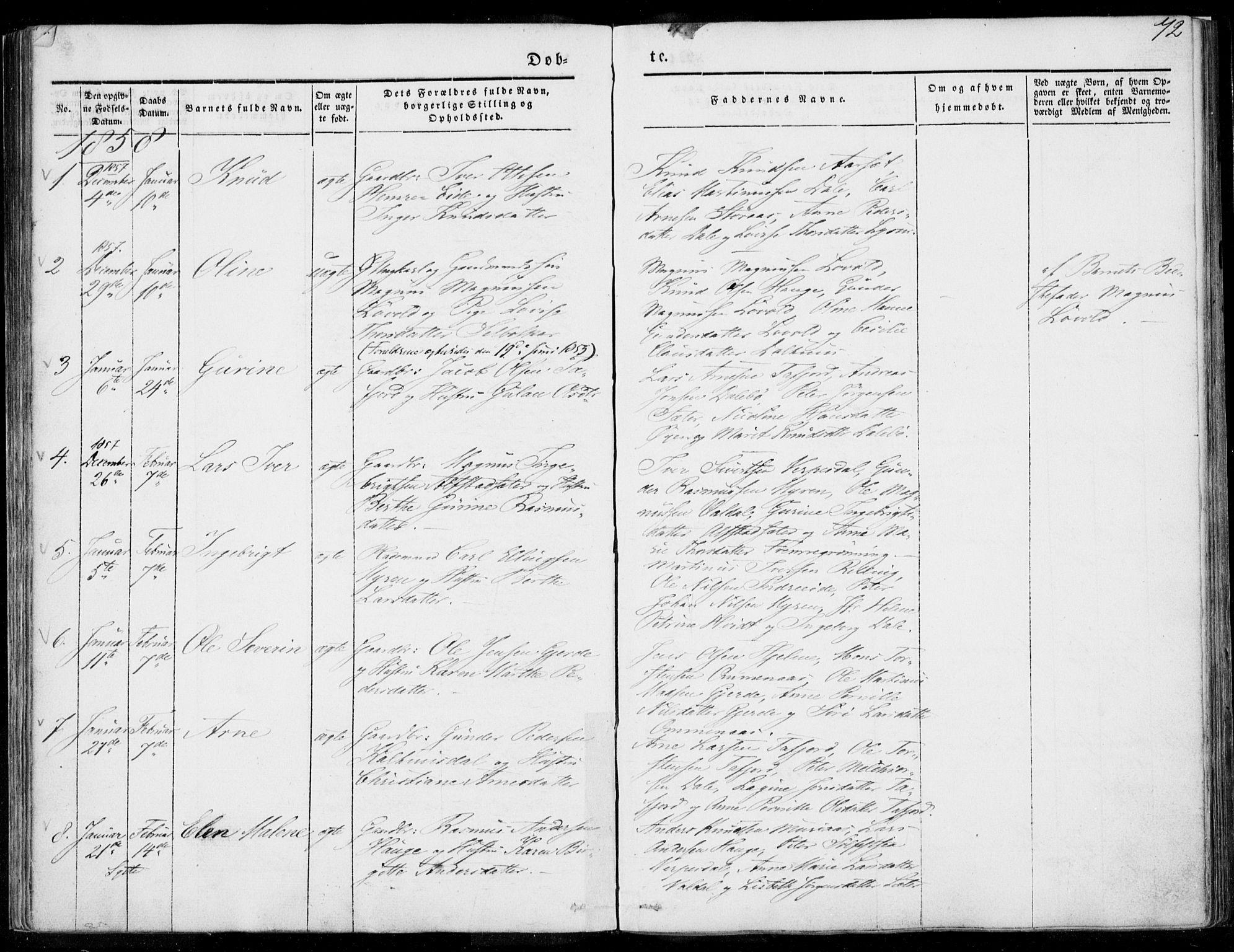 SAT, Ministerialprotokoller, klokkerbøker og fødselsregistre - Møre og Romsdal, 519/L0249: Ministerialbok nr. 519A08, 1846-1868, s. 72