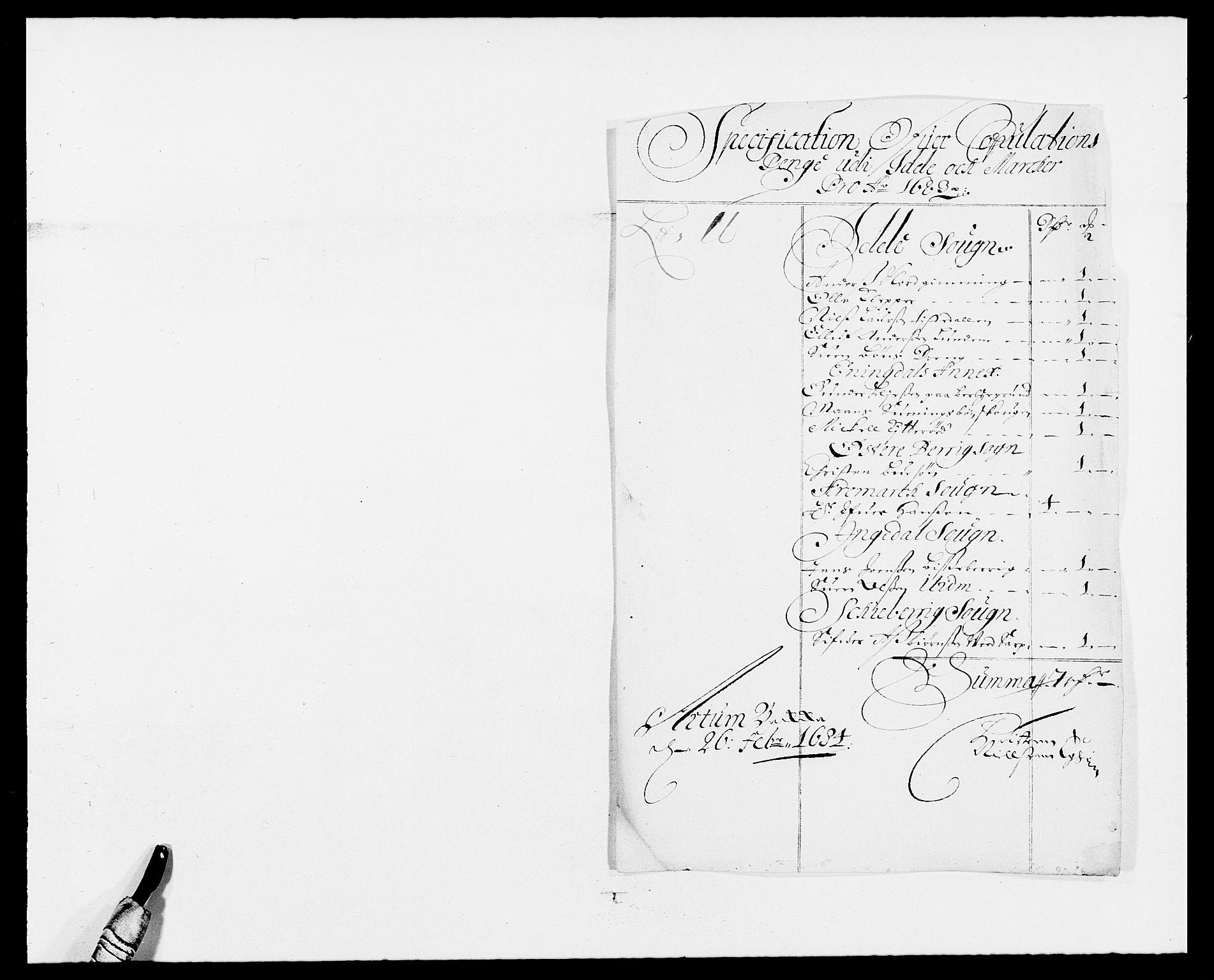 RA, Rentekammeret inntil 1814, Reviderte regnskaper, Fogderegnskap, R01/L0004: Fogderegnskap Idd og Marker , 1682-1683, s. 320