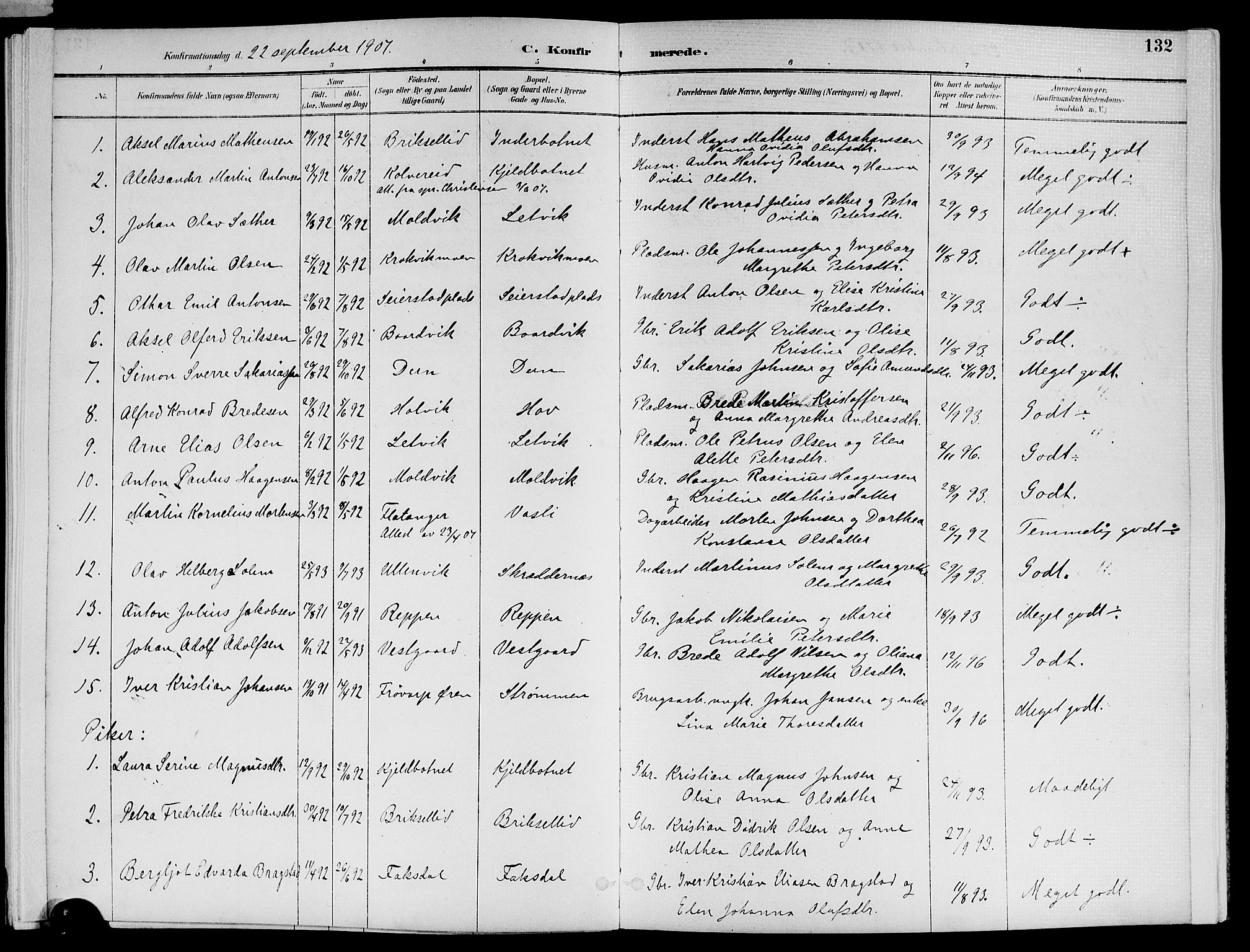SAT, Ministerialprotokoller, klokkerbøker og fødselsregistre - Nord-Trøndelag, 773/L0617: Ministerialbok nr. 773A08, 1887-1910, s. 132