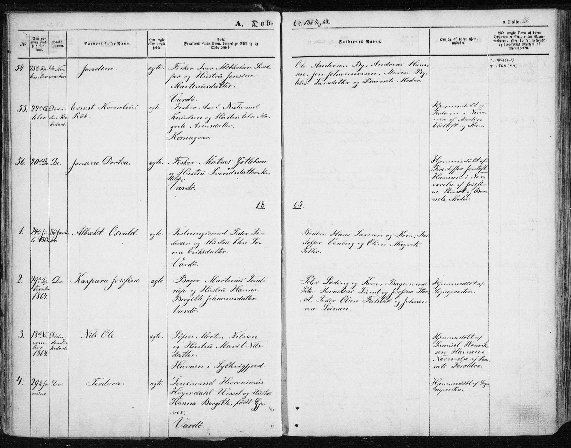 SATØ, Vardø sokneprestkontor, H/Ha/L0004kirke: Ministerialbok nr. 4, 1862-1871, s. 26