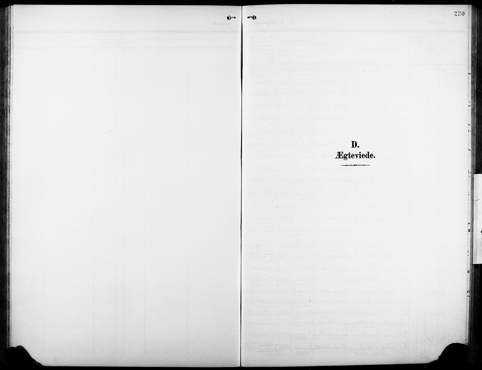 SAKO, Heddal kirkebøker, G/Ga/L0003: Klokkerbok nr. I 3, 1908-1932, s. 230