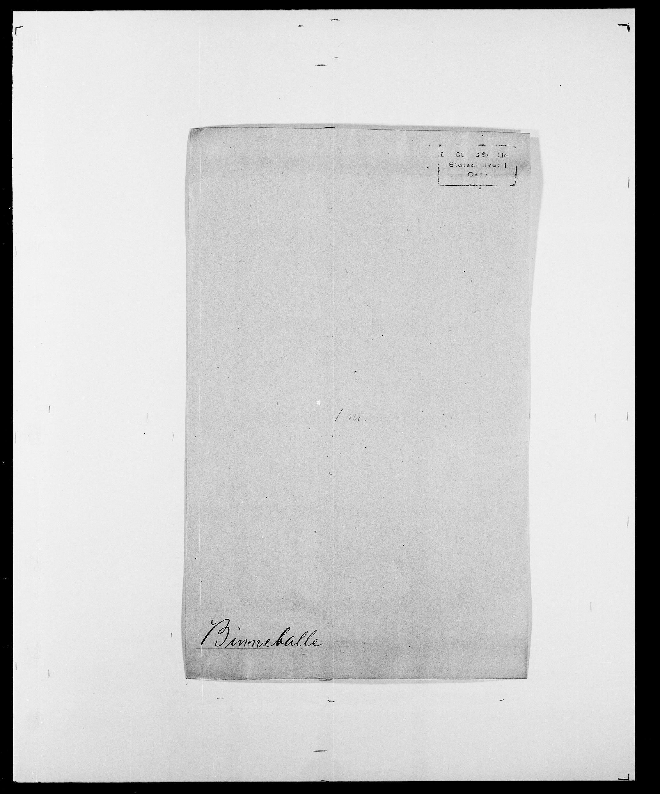 SAO, Delgobe, Charles Antoine - samling, D/Da/L0004: Bergendahl - Blære, s. 321