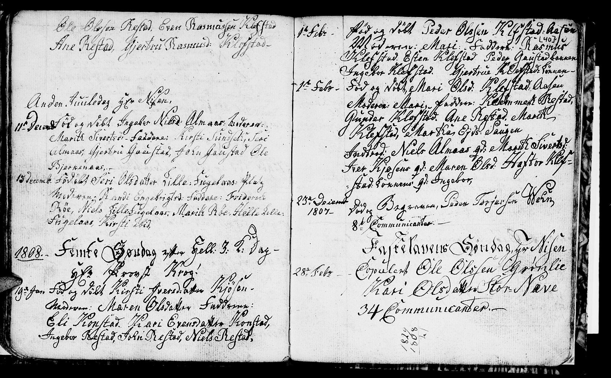 SAT, Ministerialprotokoller, klokkerbøker og fødselsregistre - Sør-Trøndelag, 694/L1129: Klokkerbok nr. 694C01, 1793-1815, s. 40b