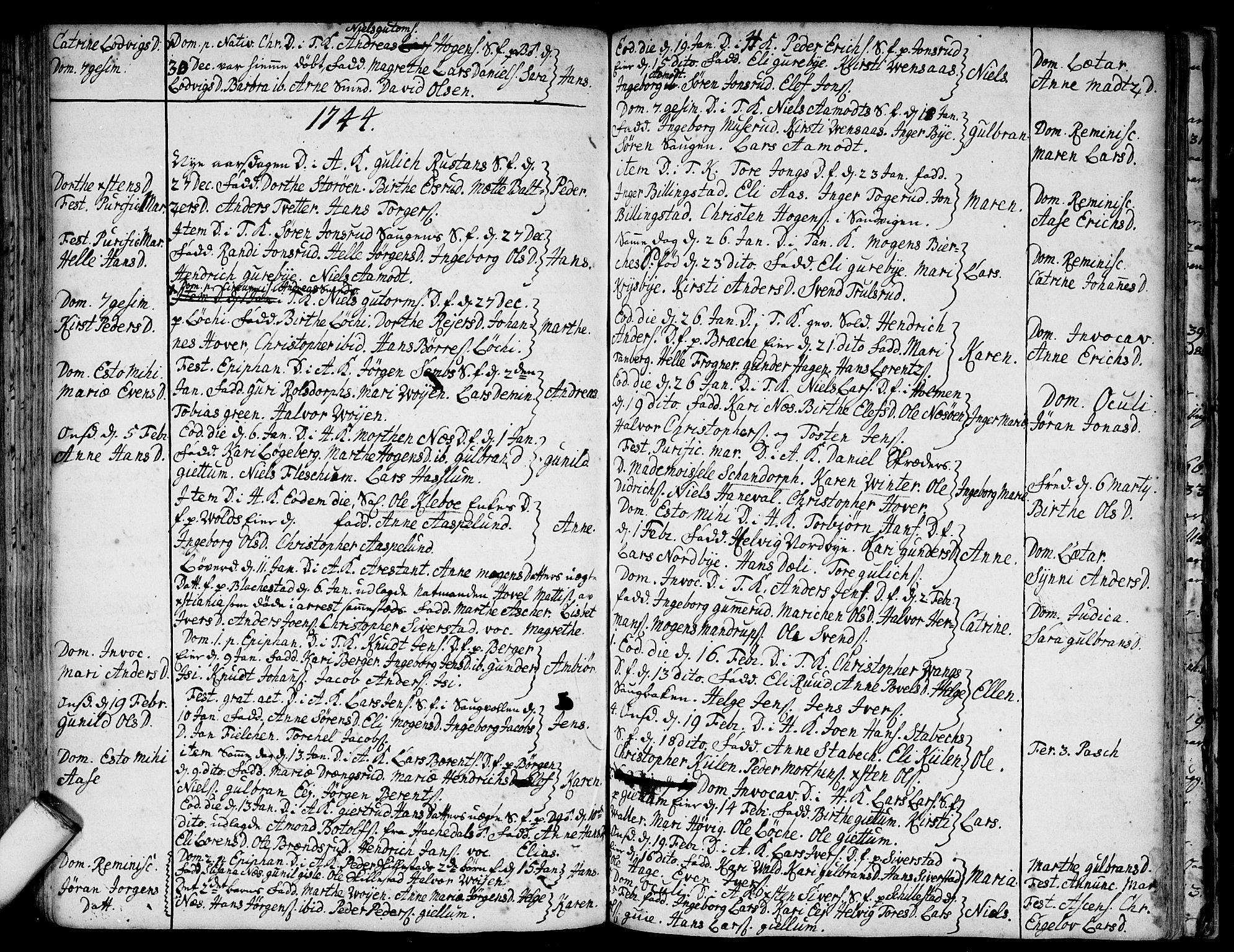 SAO, Asker prestekontor Kirkebøker, F/Fa/L0001: Ministerialbok nr. I 1, 1726-1744, s. 84