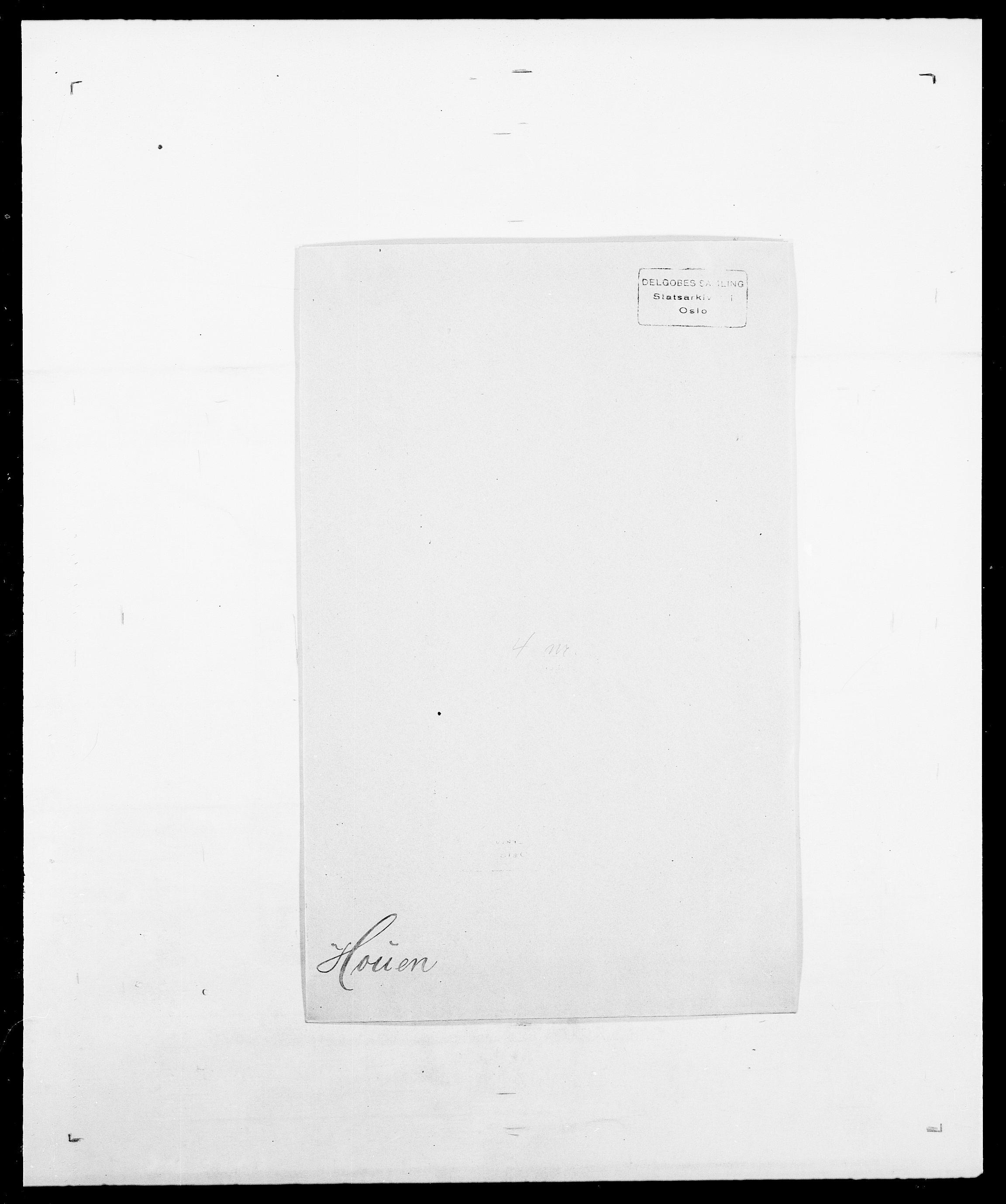 SAO, Delgobe, Charles Antoine - samling, D/Da/L0018: Hoch - Howert, s. 1007