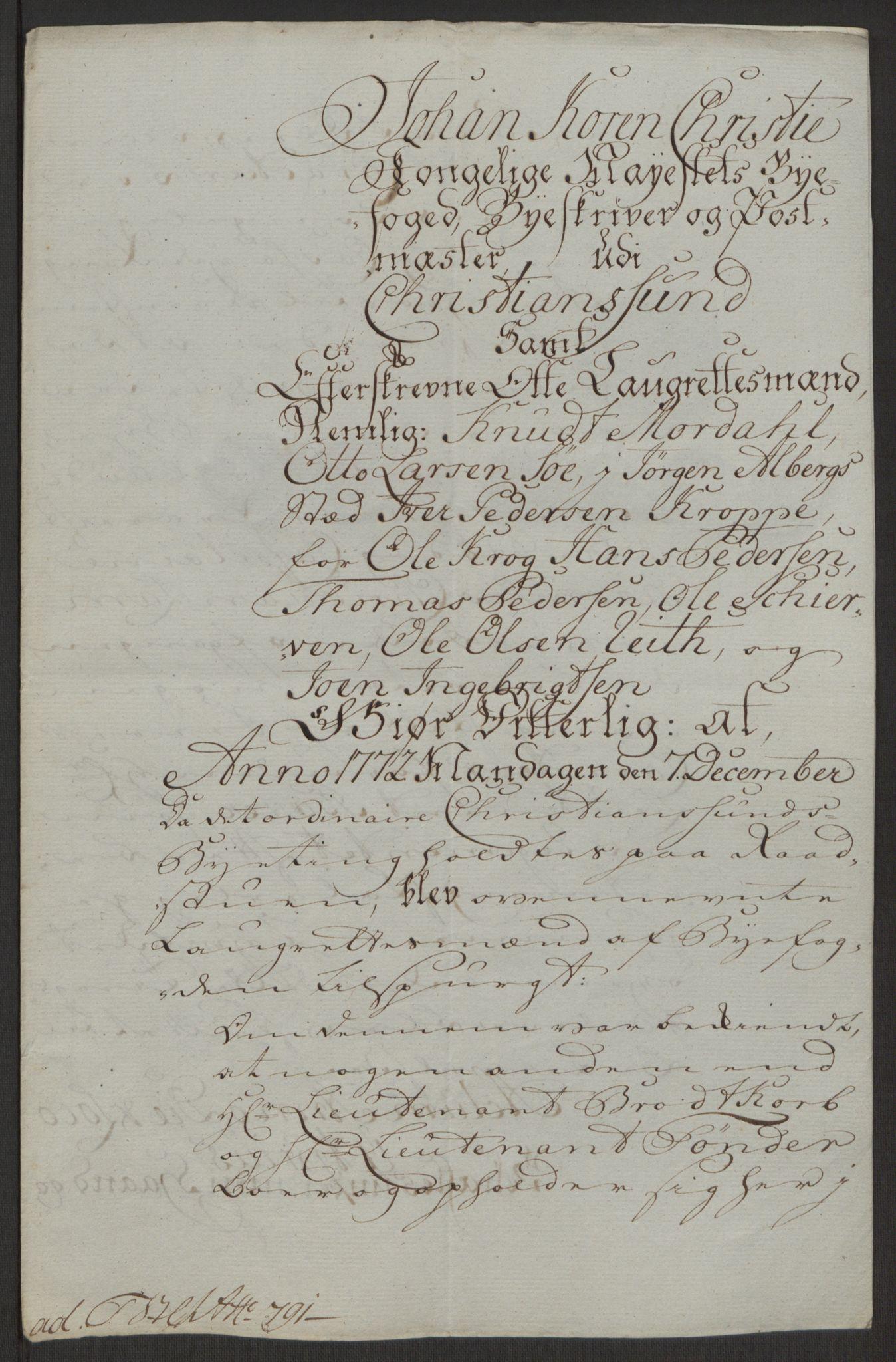 RA, Rentekammeret inntil 1814, Reviderte regnskaper, Byregnskaper, R/Rr/L0495: [R1] Kontribusjonsregnskap, 1762-1772, s. 274