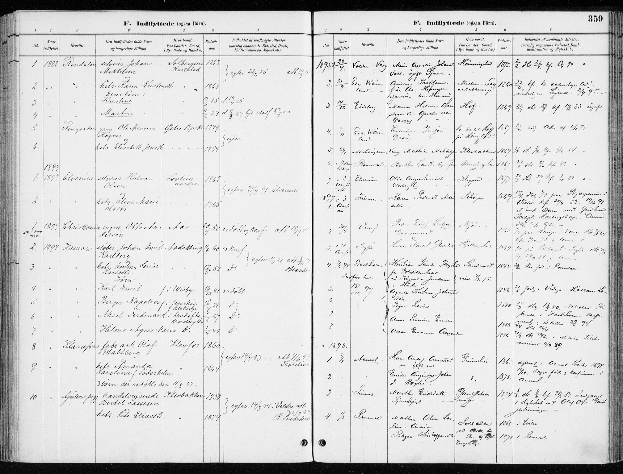 SAH, Løten prestekontor, K/Ka/L0010: Ministerialbok nr. 10, 1892-1907, s. 359