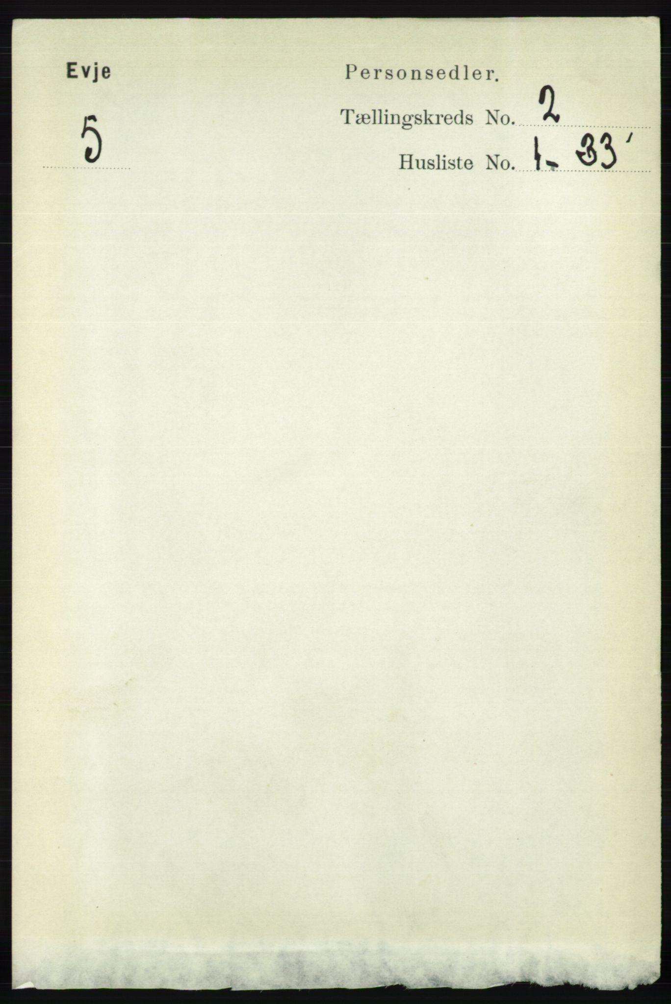 RA, Folketelling 1891 for 0937 Evje herred, 1891, s. 370
