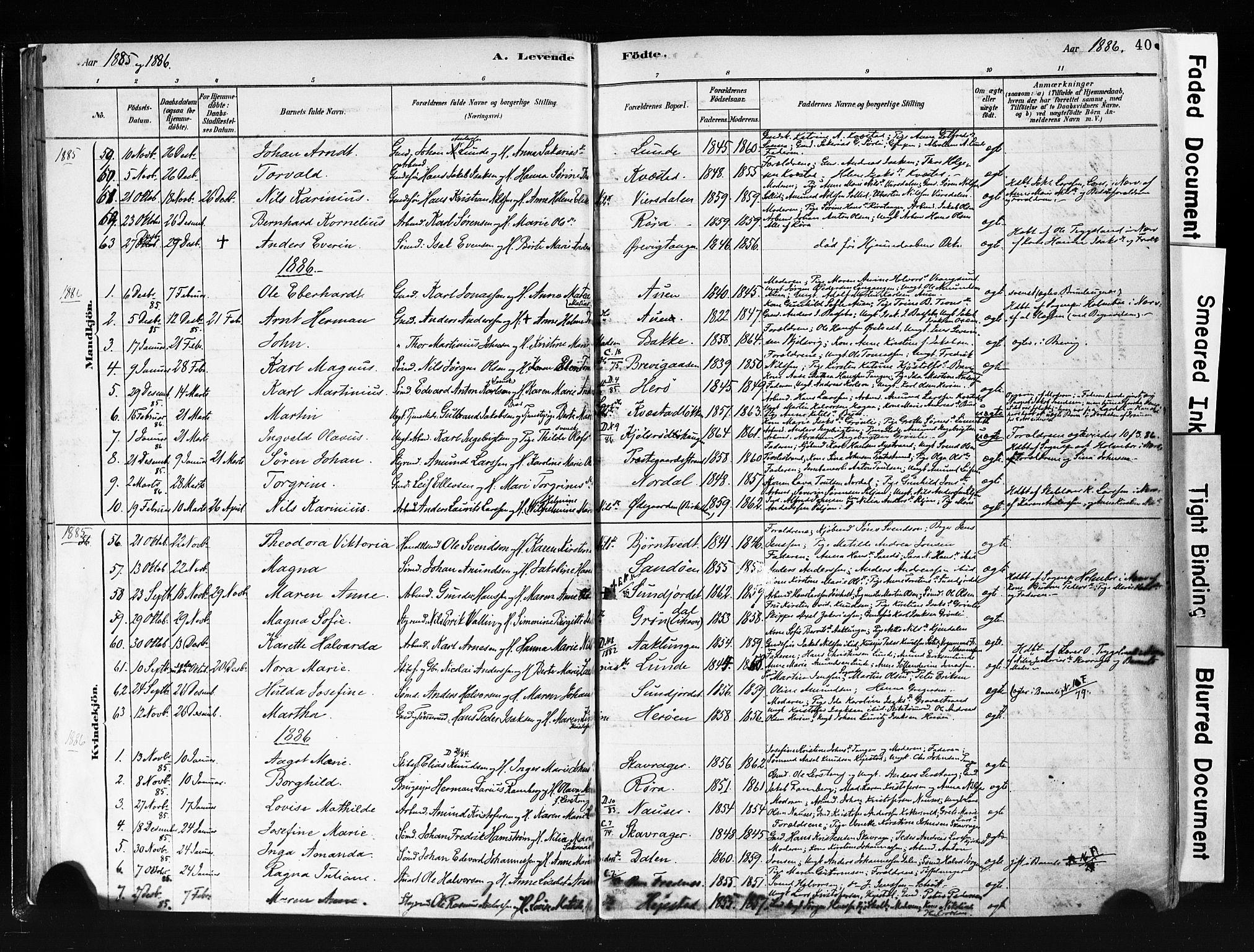 SAKO, Eidanger kirkebøker, F/Fa/L0012: Ministerialbok nr. 12, 1879-1900, s. 40