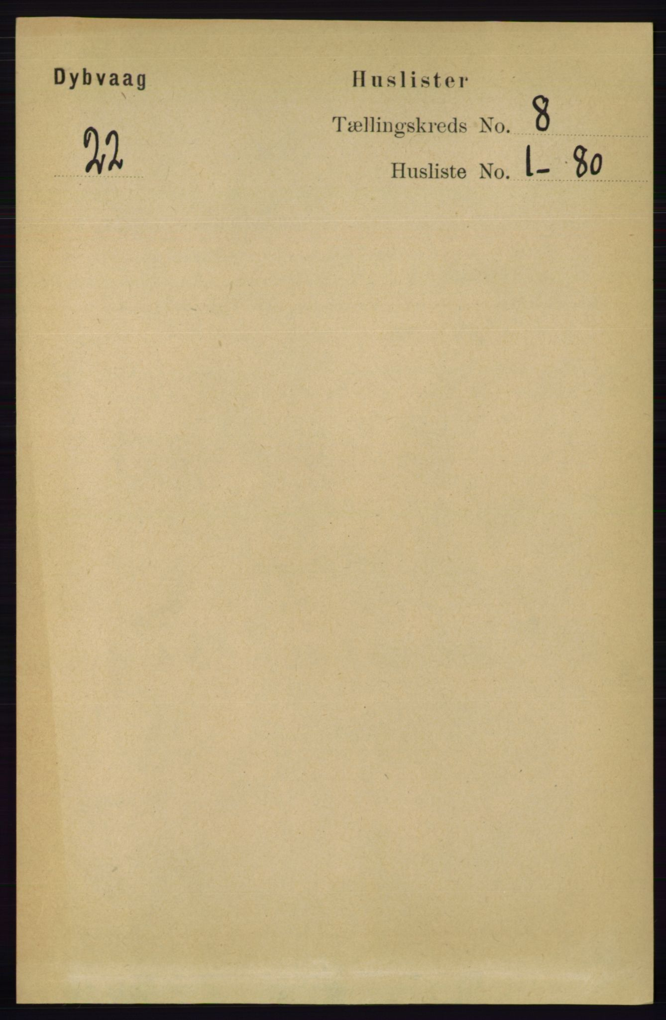 RA, Folketelling 1891 for 0915 Dypvåg herred, 1891, s. 2642