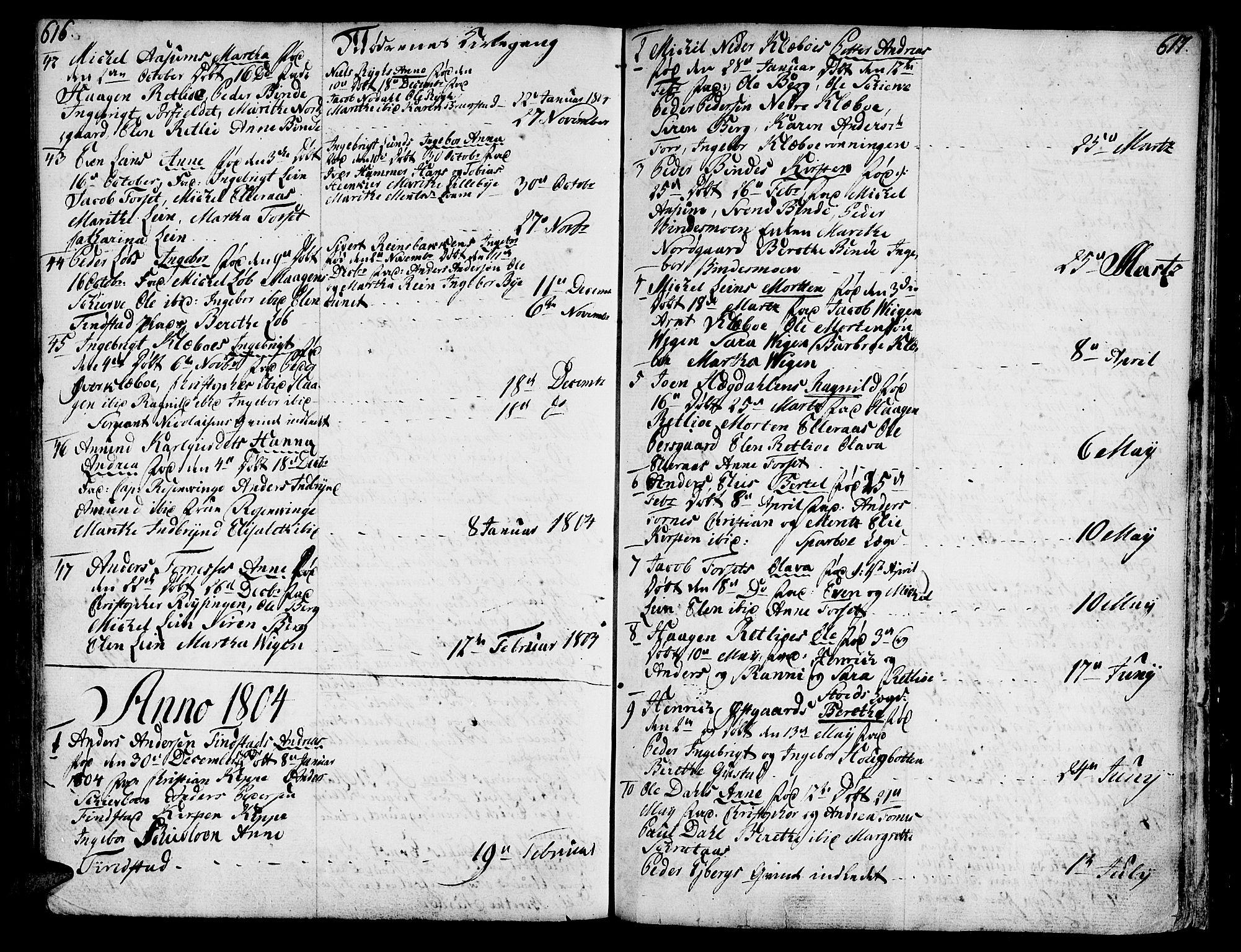 SAT, Ministerialprotokoller, klokkerbøker og fødselsregistre - Nord-Trøndelag, 746/L0440: Ministerialbok nr. 746A02, 1760-1815, s. 616-617