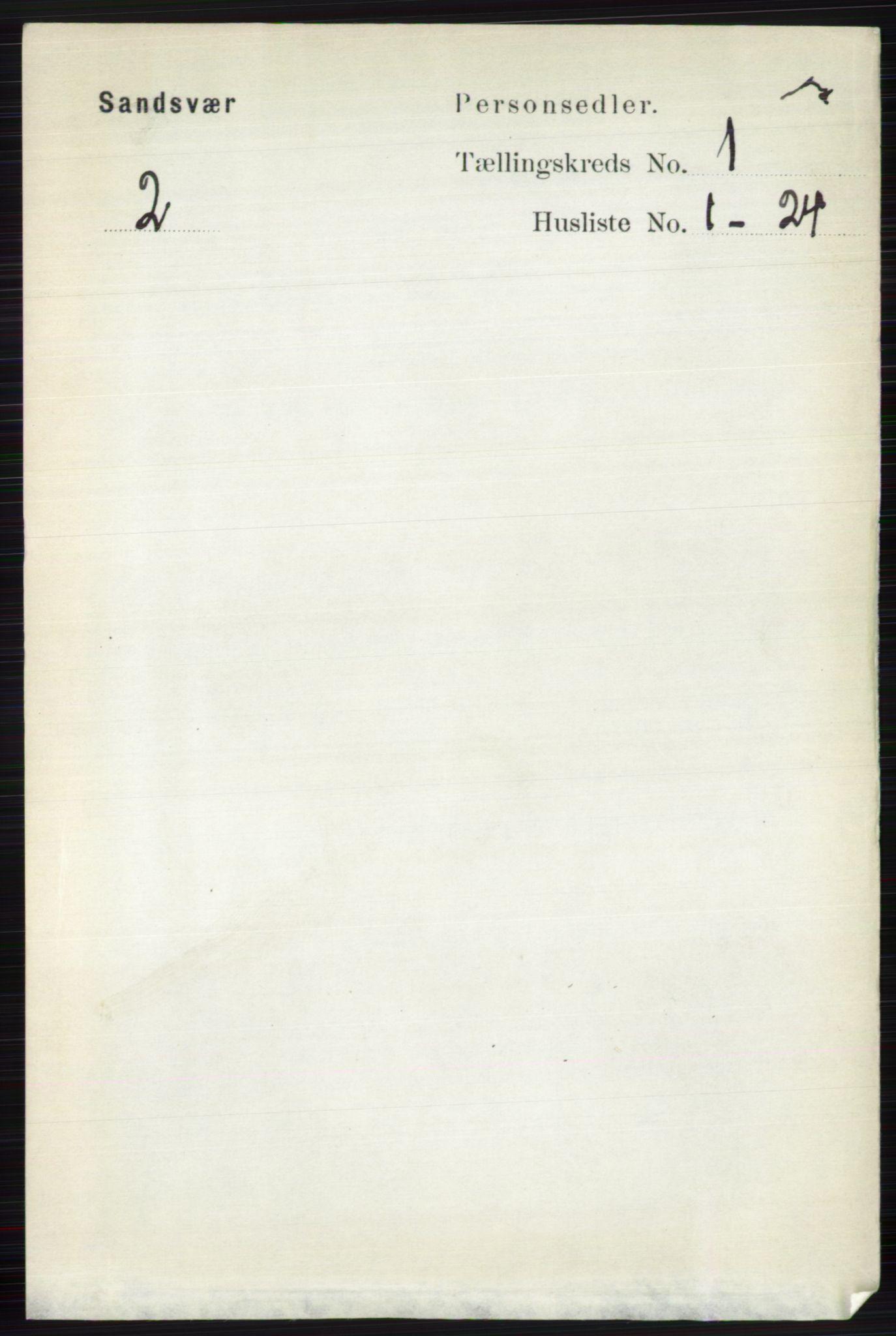 RA, Folketelling 1891 for 0629 Sandsvær herred, 1891, s. 116